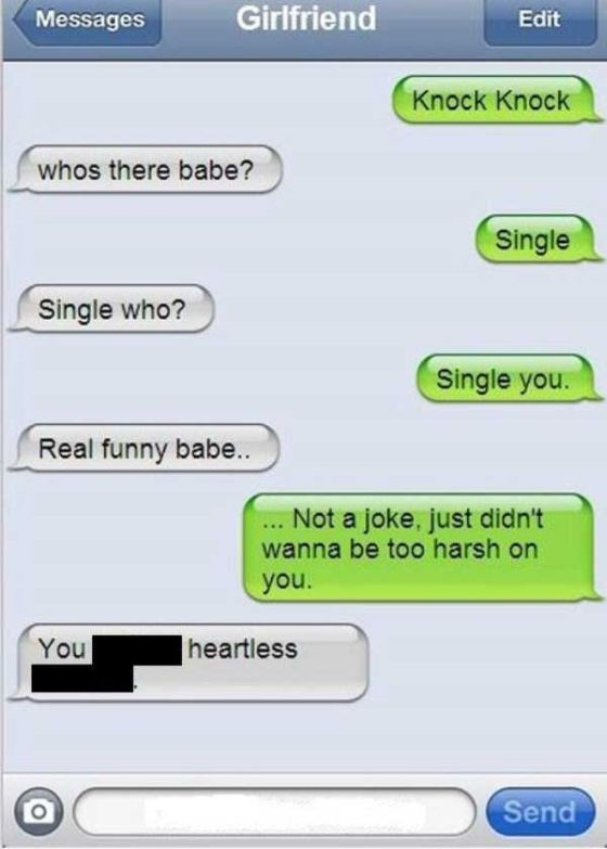 Totally Harsh Breakup Texts  Fun