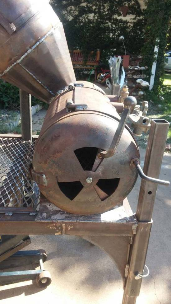 Scrap Metal Turned Into A Cool Barbecue Smoker  Others