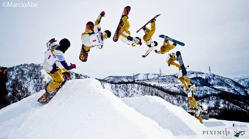 Snowboard Girl Wallpaper Sequence Photography The Power Of Motion Art