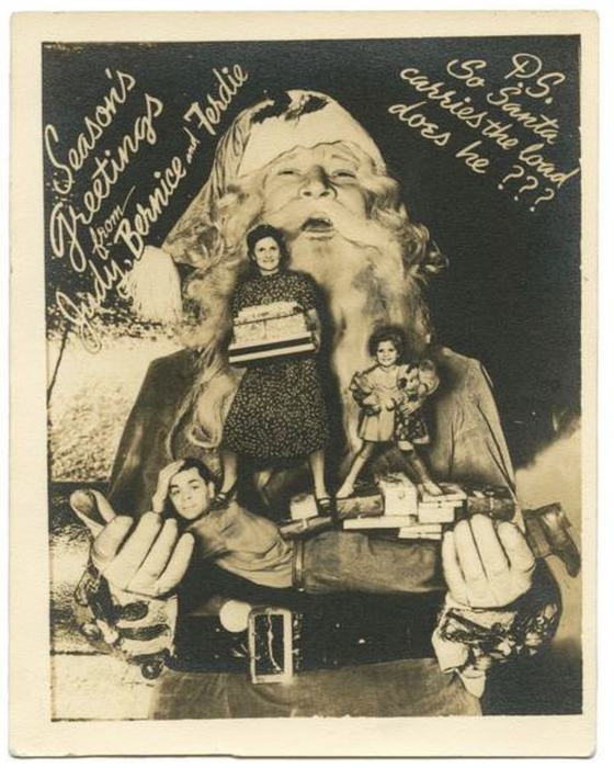 Bizarre Vintage Christmas Cards That Will Leave You