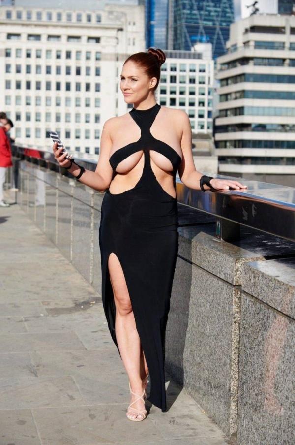 Stephanie Barnes Is Wearing Kim Kardashians Dress On The