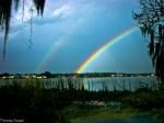 Double Rainbow over Lake Agnes