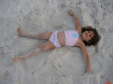 Look Nana, I'm making Sand Angels! Oh, be still my heart:-)