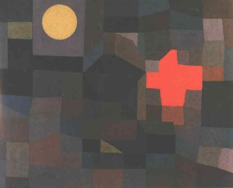 Fire, Full Moon, Paul Klee