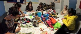 """Sewing Communal Stories""- a sewing workshop by Sarita & Pix"