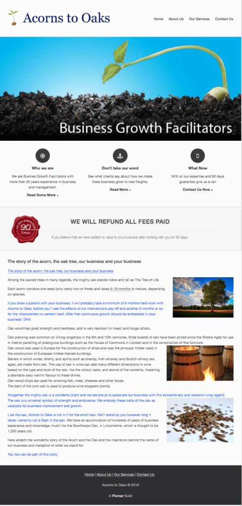 Acorns to Oaks Website