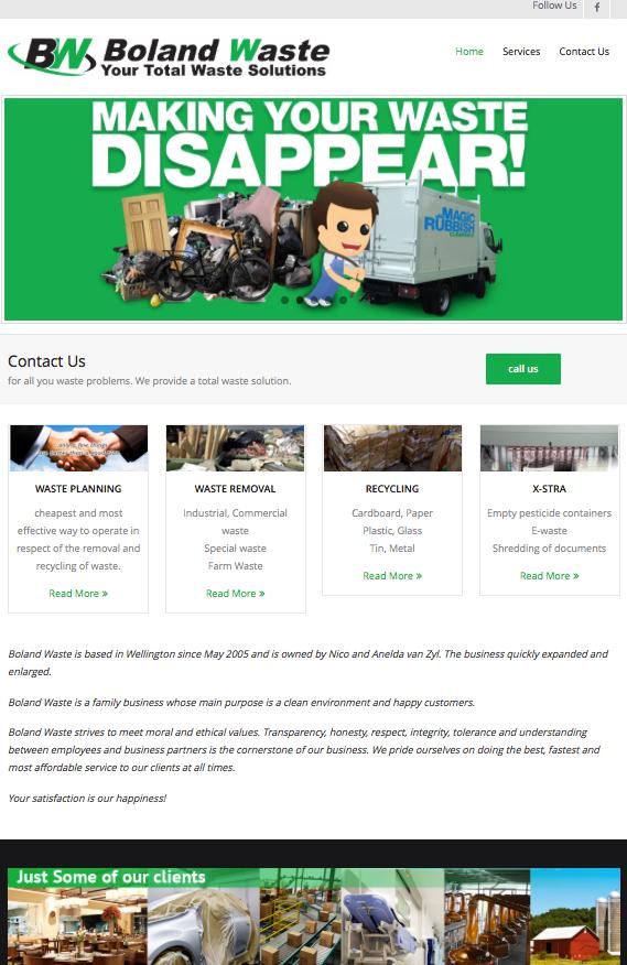 Boland Waste Website
