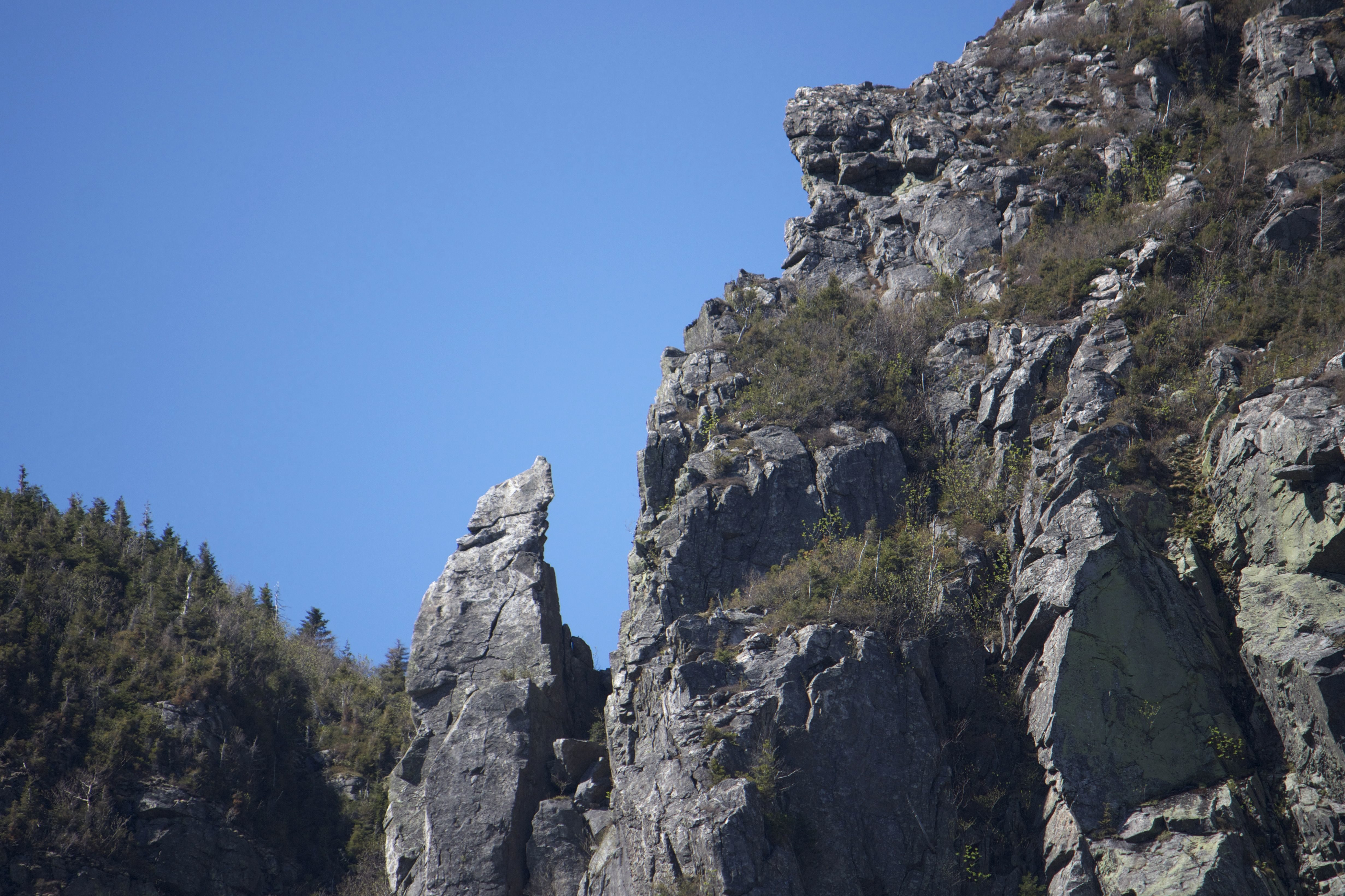 Free picture blue sky mountain peaks mountain rocks trees summer hiking