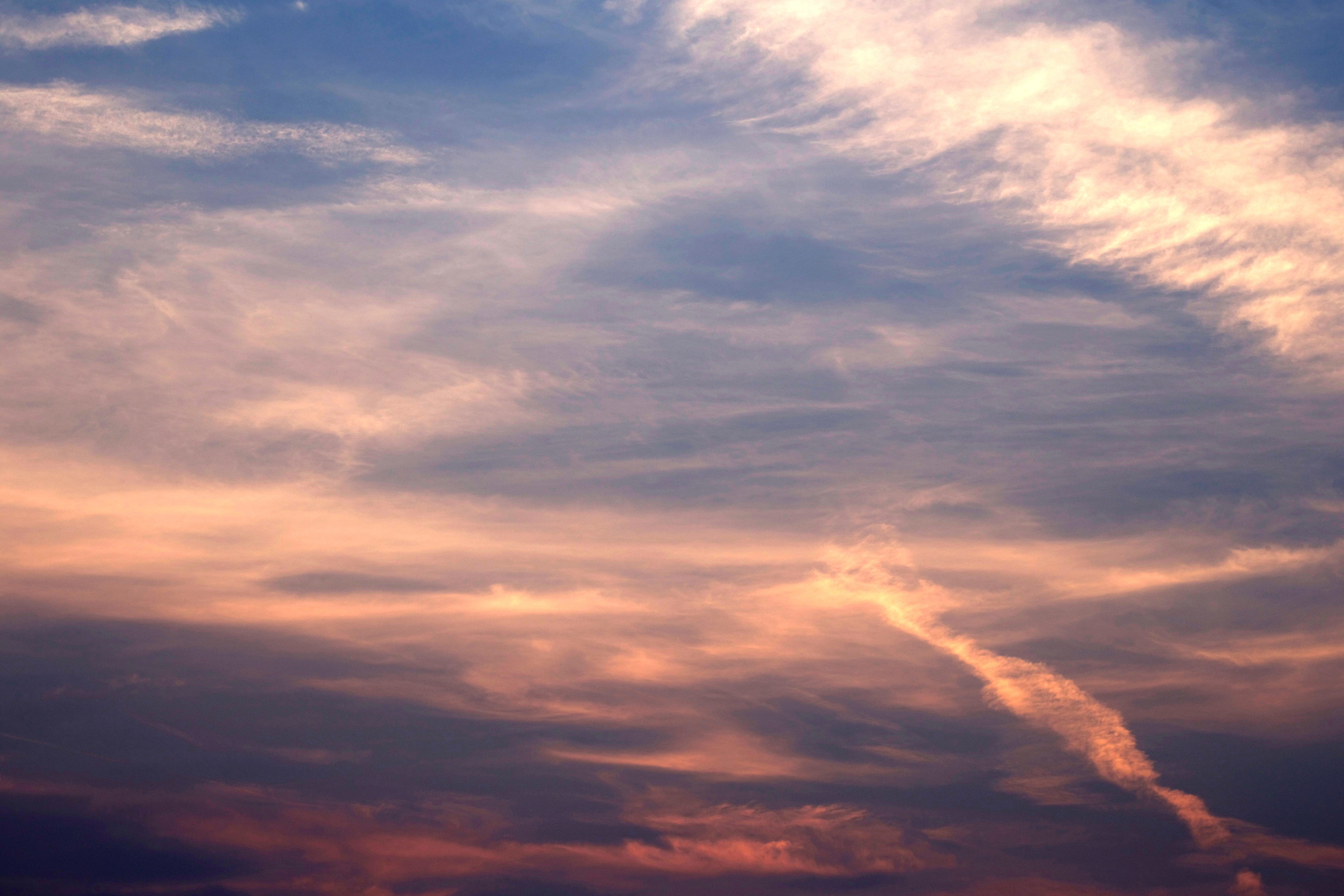 Free picture purple sky colored sky clouds sky