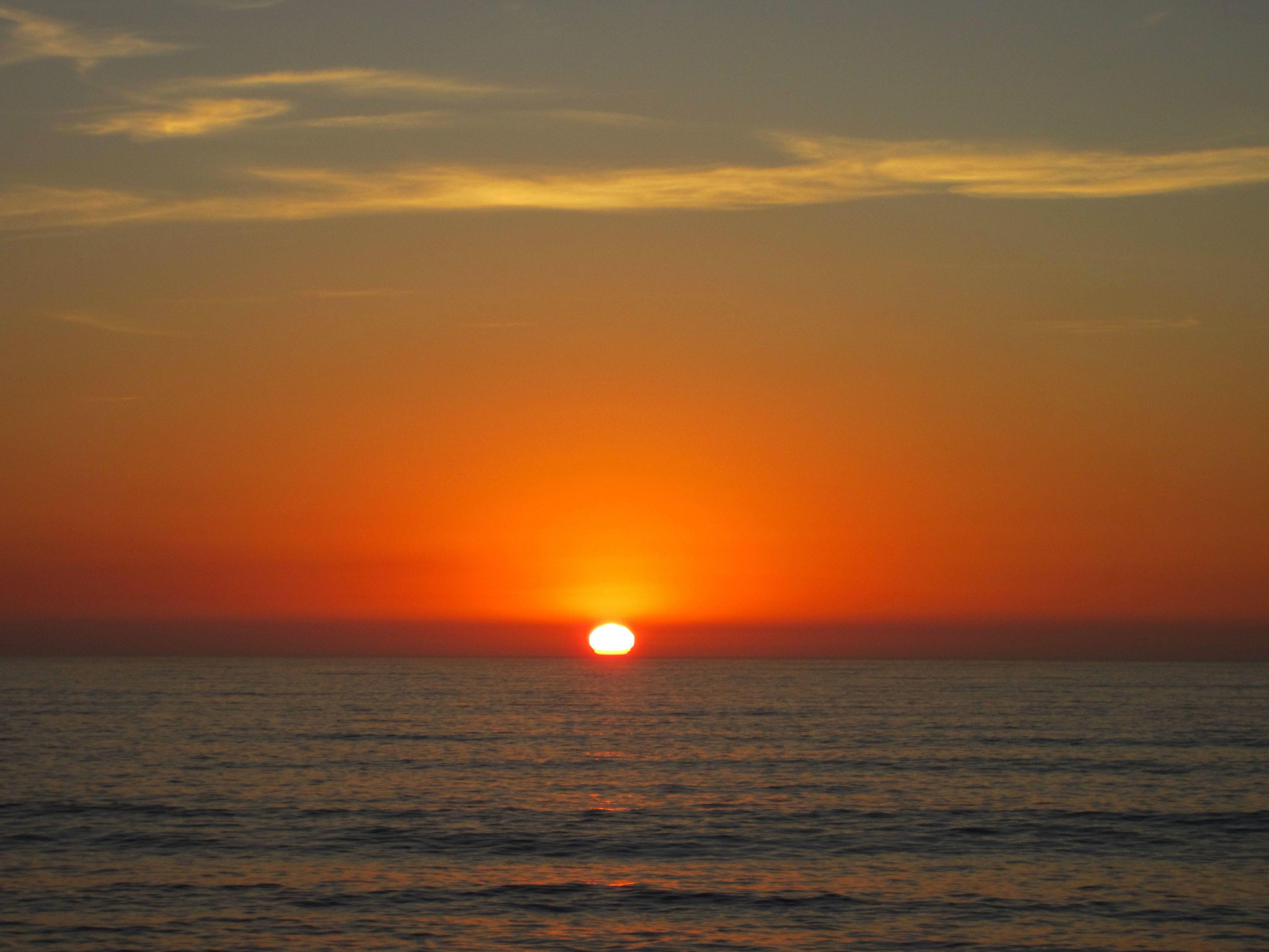 Kostenlose Bild orange Sonnenuntergang Meer und zum Sonnenuntergang Sonnenuntergang Meer