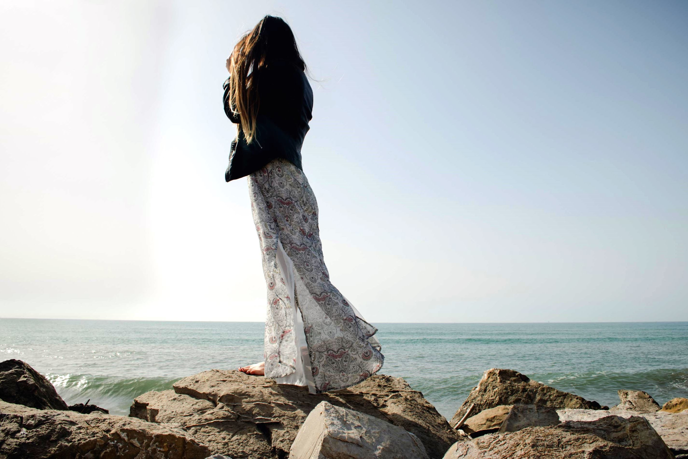 Free picture sea woman clothes coral reef dress