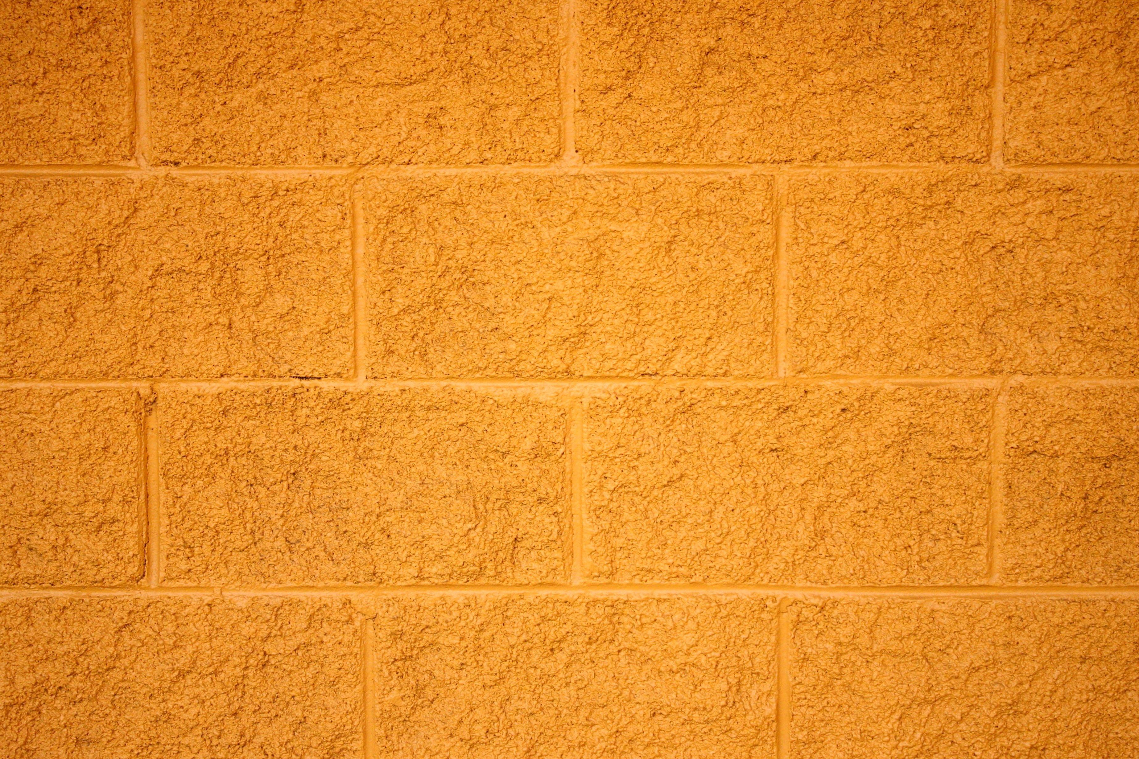 Imagen gratis ladrillos pintados de amarillo bloques de