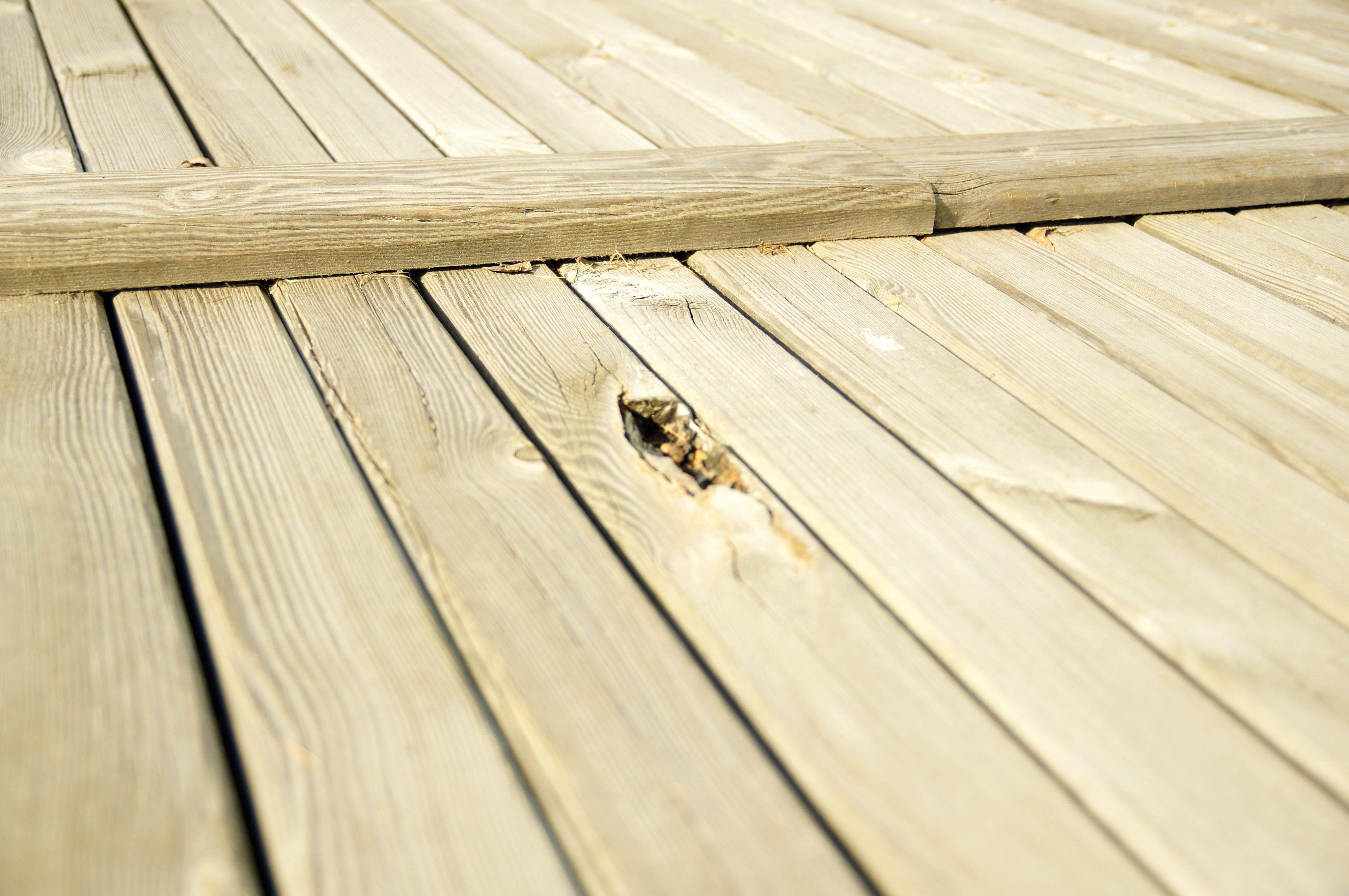 Free picture large wooden platform deck wooden planks