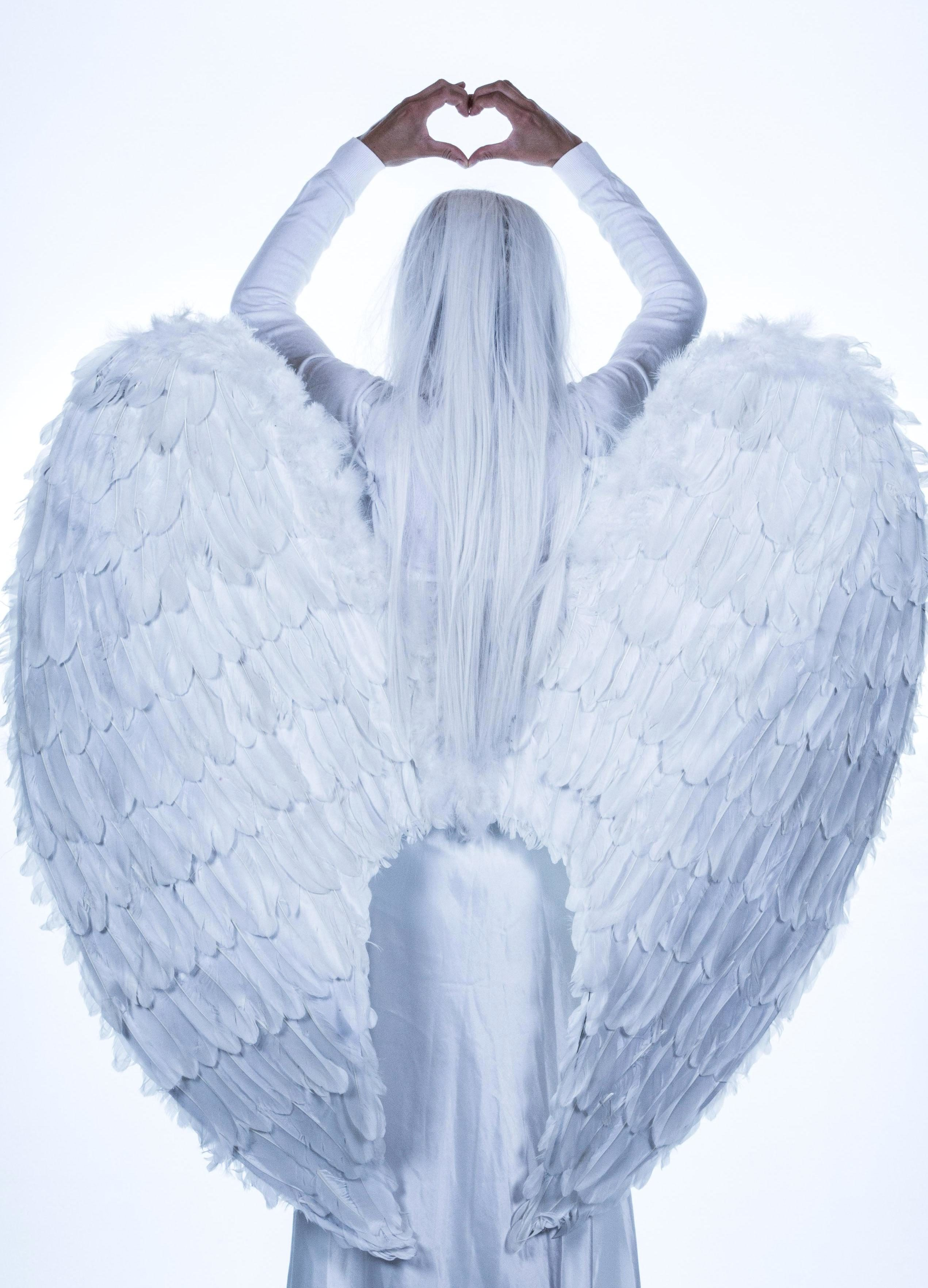 Free Picture Angel Wings Girl Woman Faith Religion White