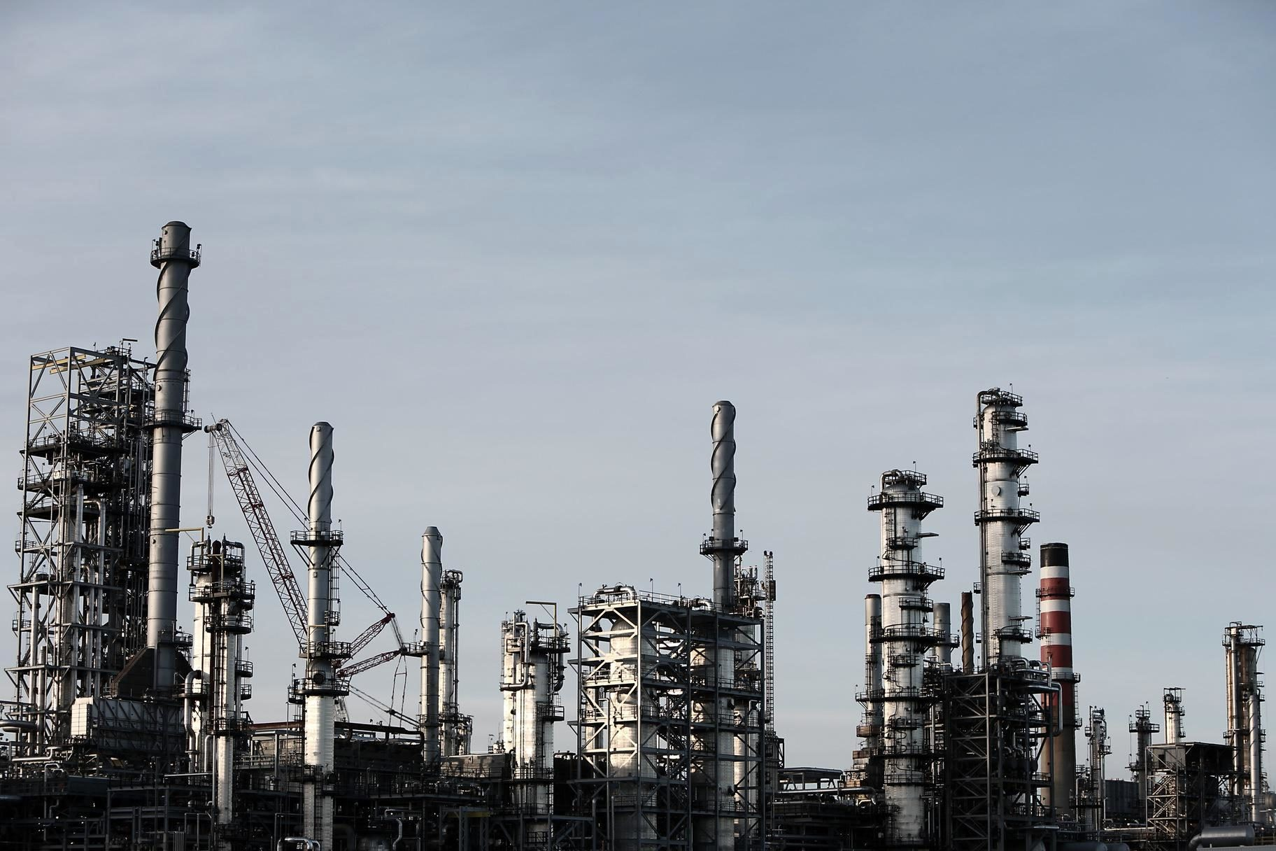 Free picture industrial town dirty industry stack
