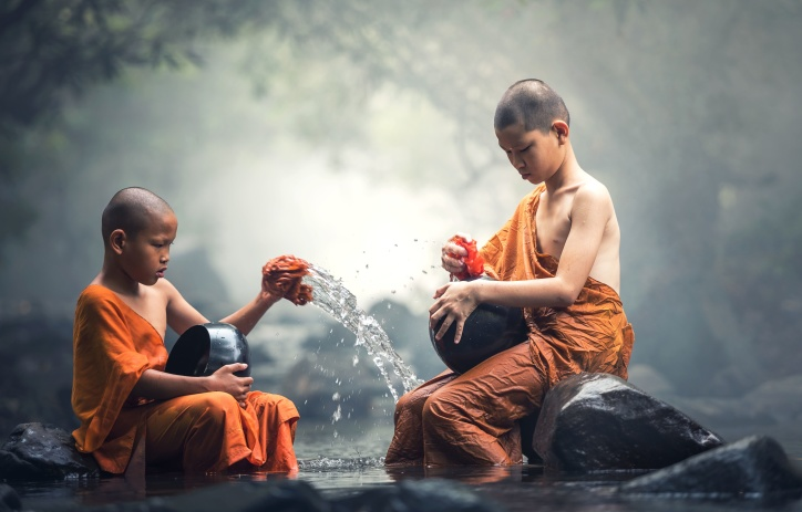 Cute Little Baby Boy Hd Wallpaper Free Picture Children Buddhist Monks Traditional Boy
