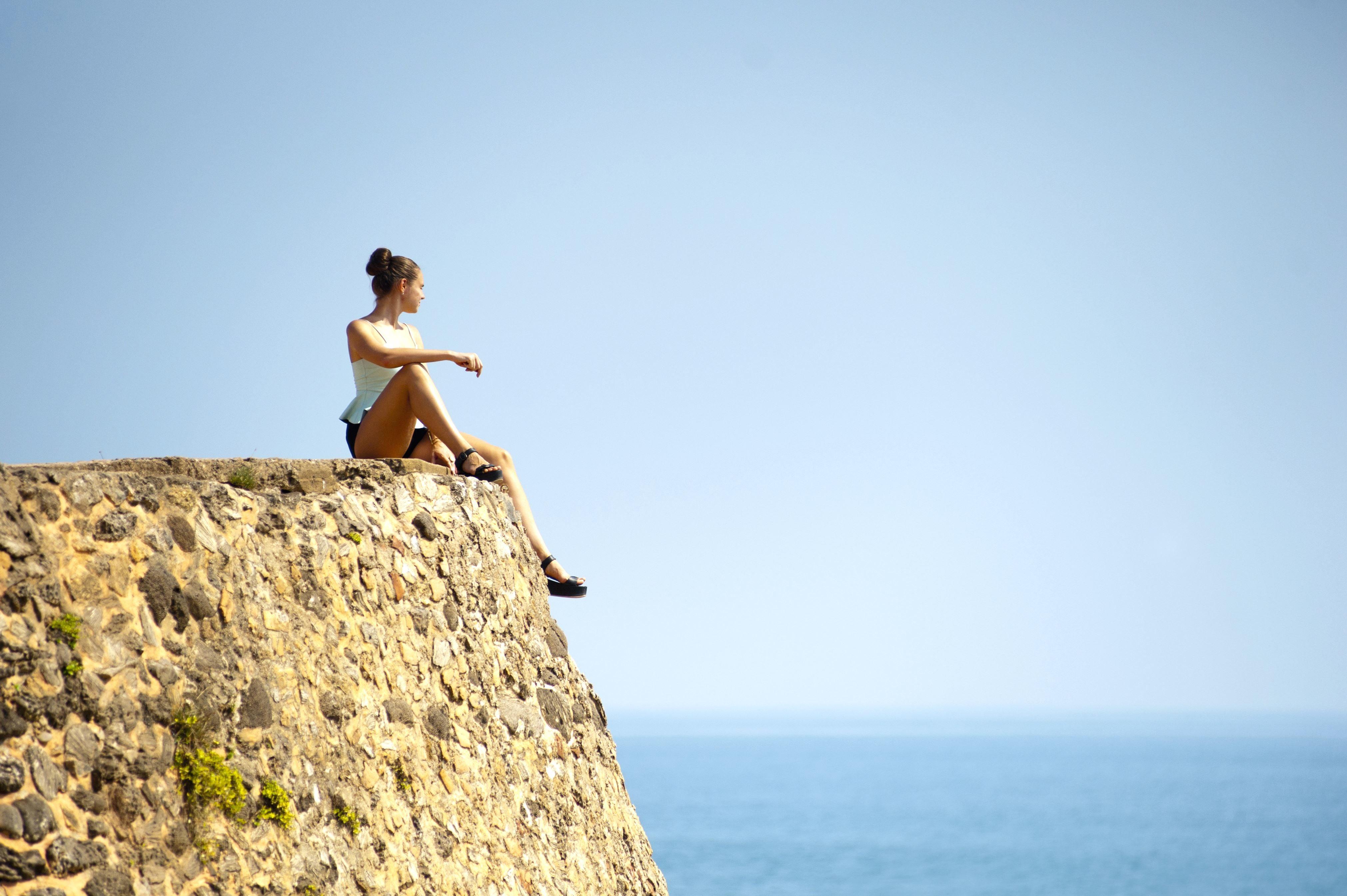 Image Libre Voyage Vacances Eau Femme Jeune Ciel