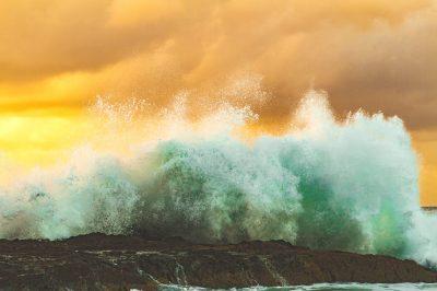 Free picture: beach, coast, rock, sea, water, splash, waves