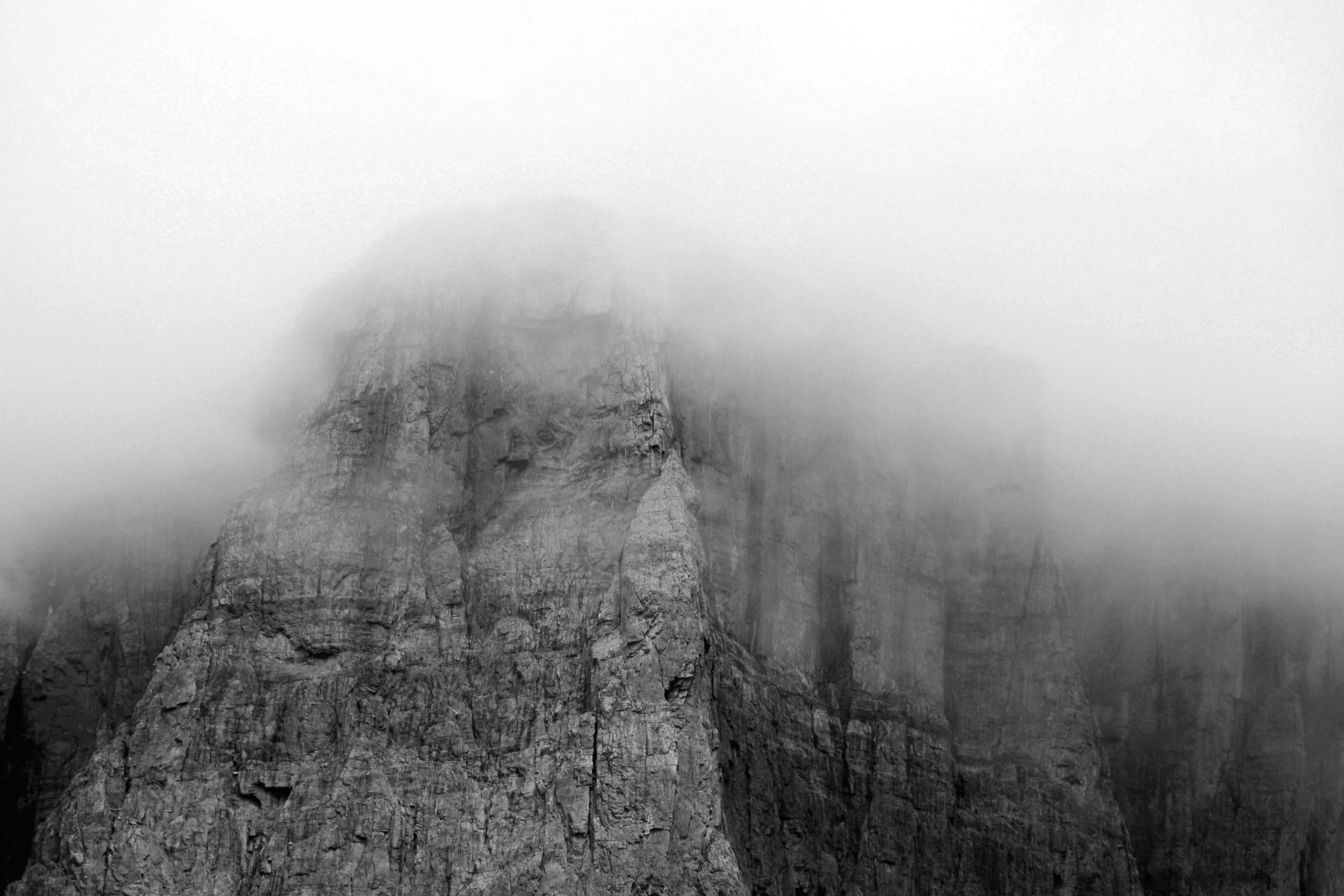 Free picture fog mountain nature rock