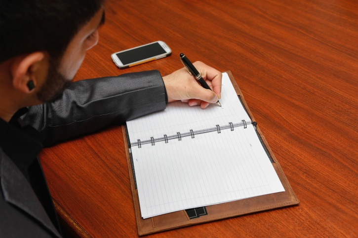 Free Picture Notebook Paper Desk Man Pencil Person