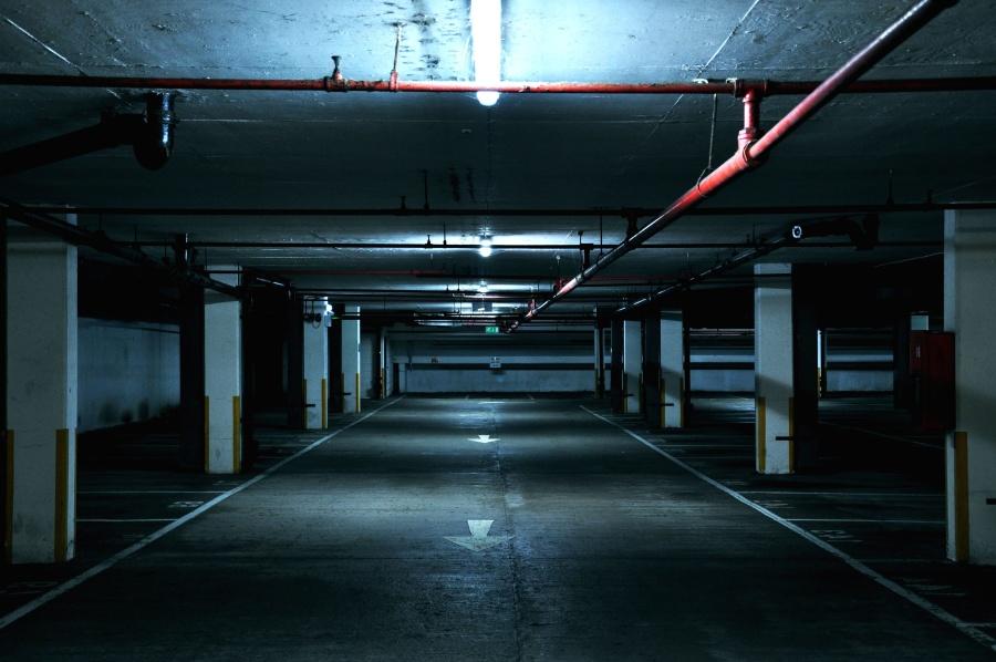 Free picture parking lot dark empty