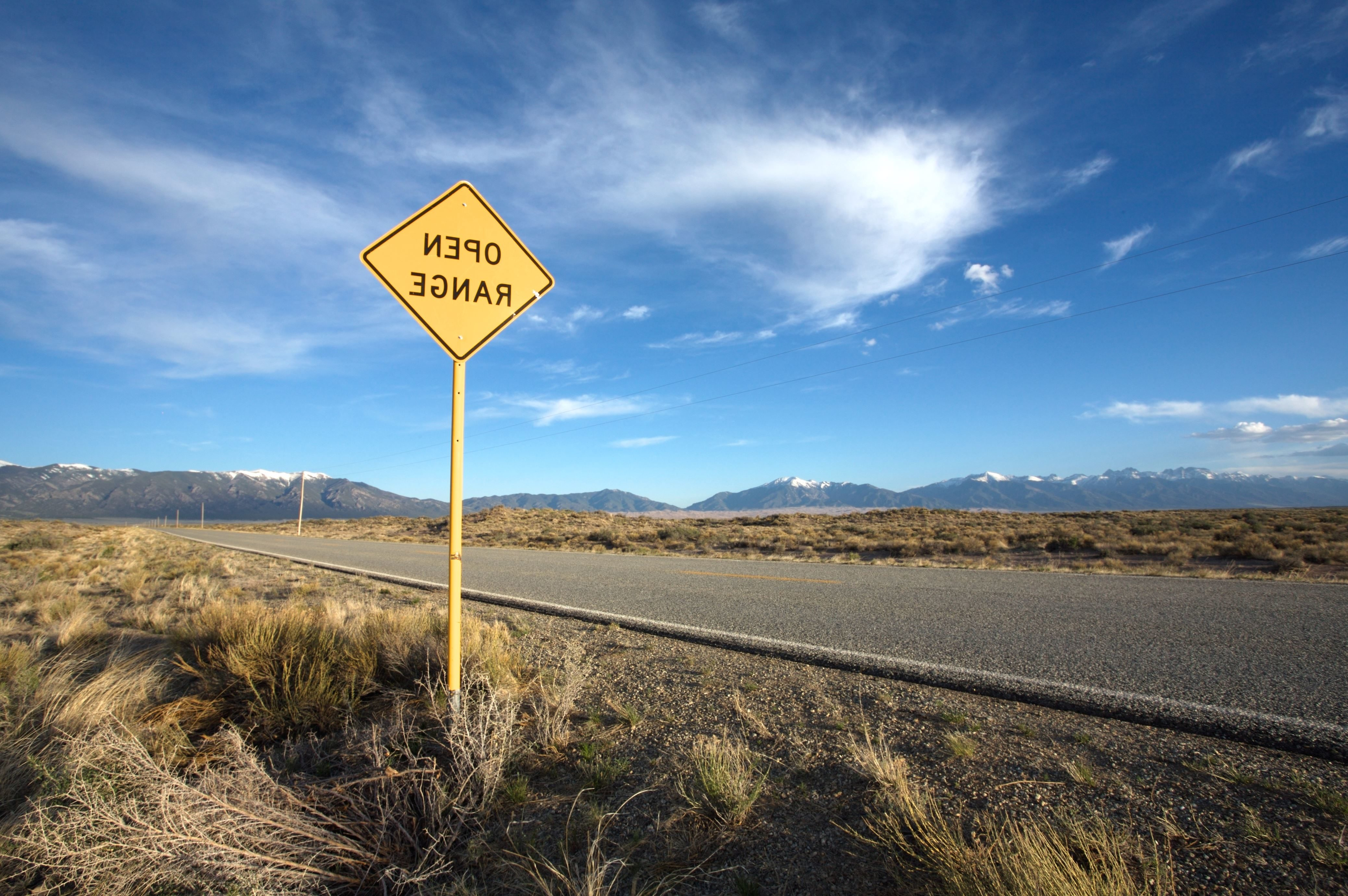 Free picture guidance highway road sign desert