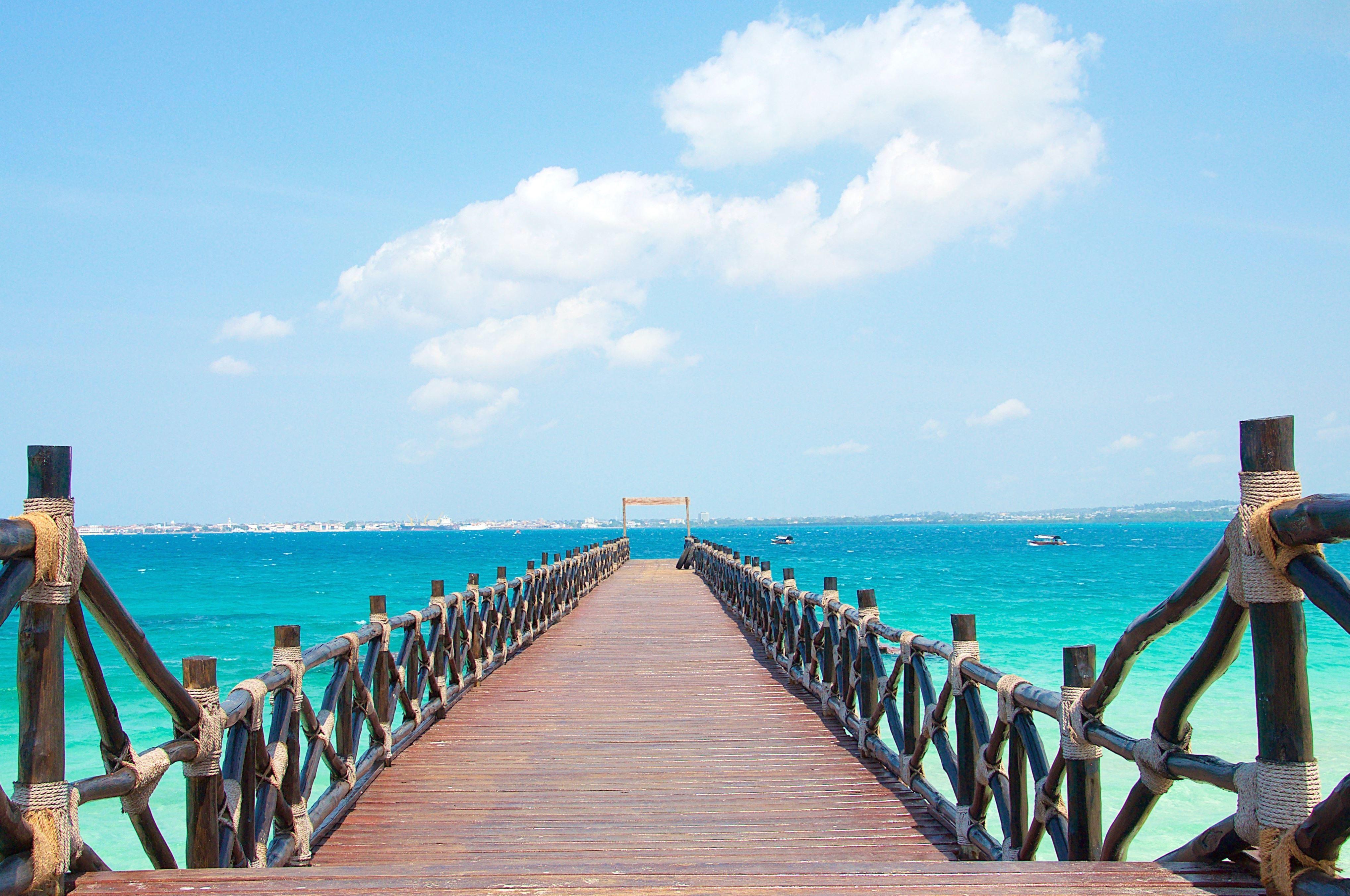 Kostenlose Bild Tropic Urlaub Bambus Strand Wasser Holzbohlen