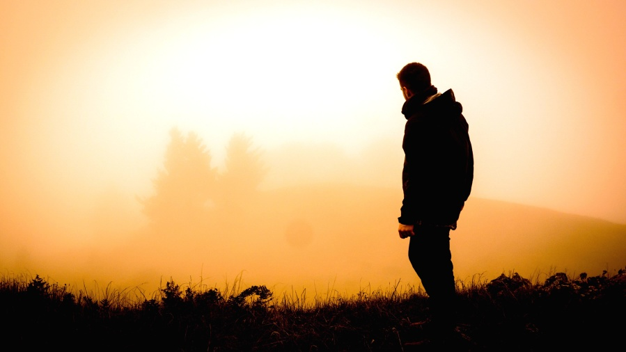 Pattern Wallpaper Hd Free Picture Person Silhouette Fog Man Jacket Grass