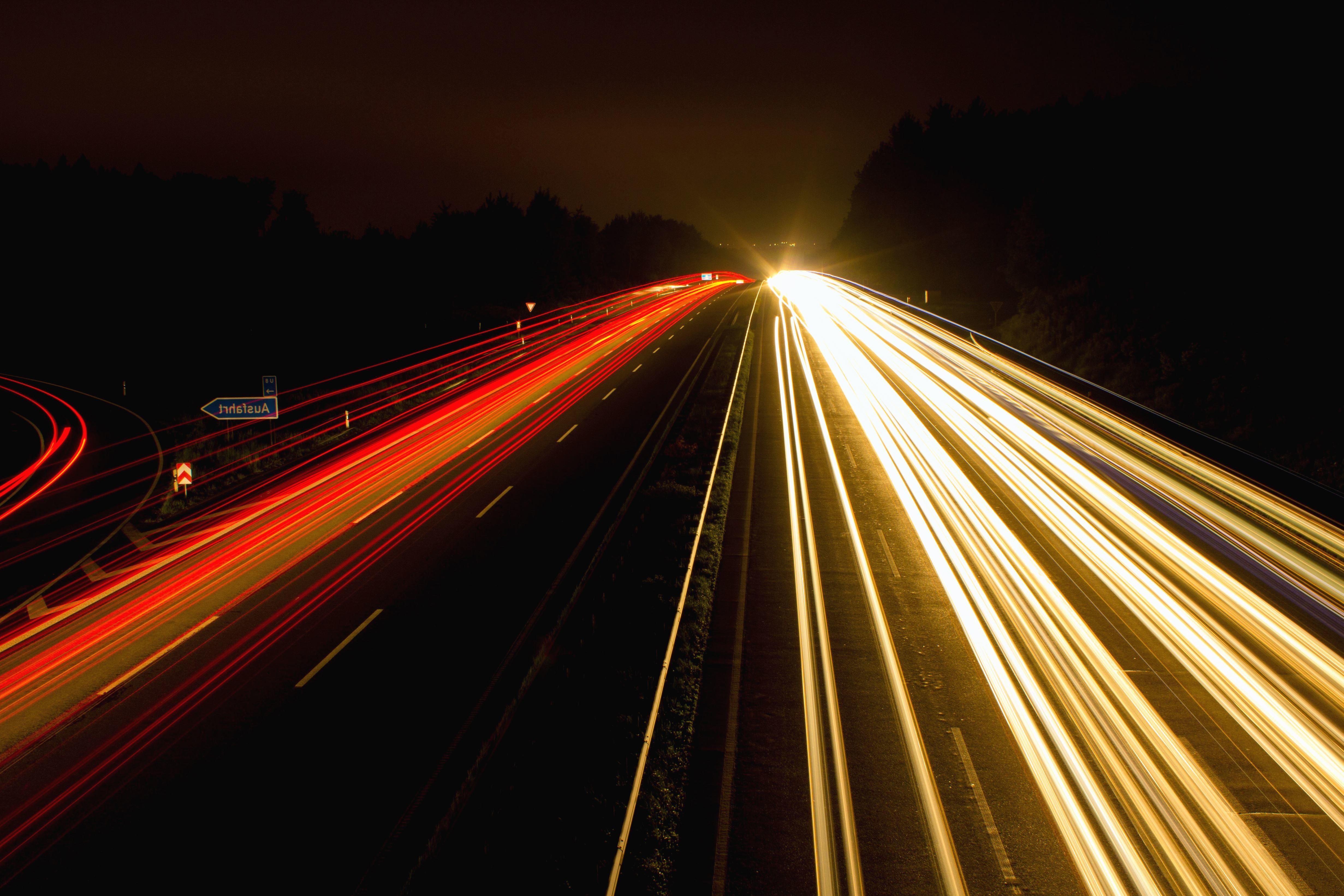 Foto gratis Luci notte autostrada autostrada velocit