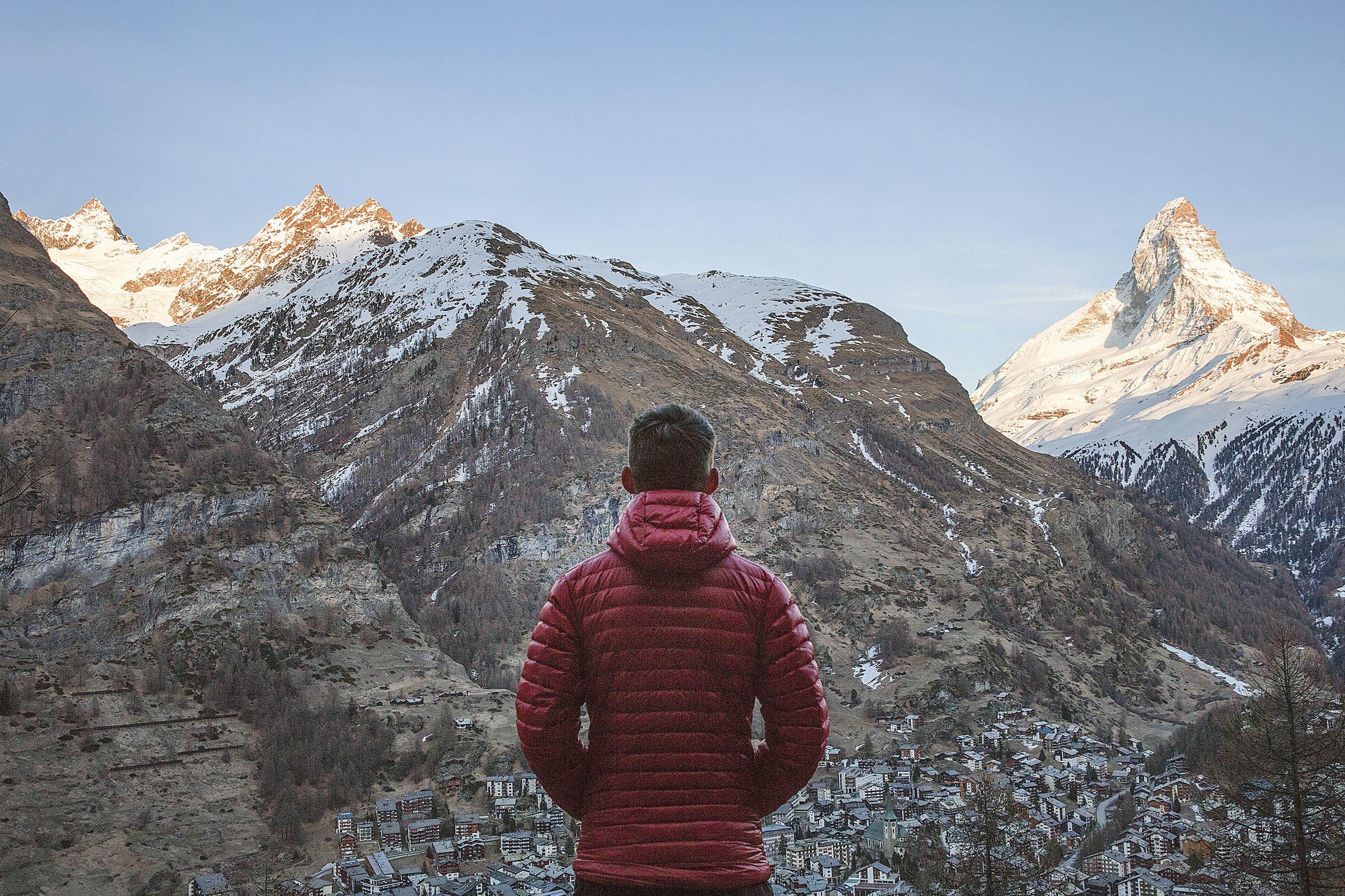 Imagen gratis Naturaleza persona montaa nieve fro