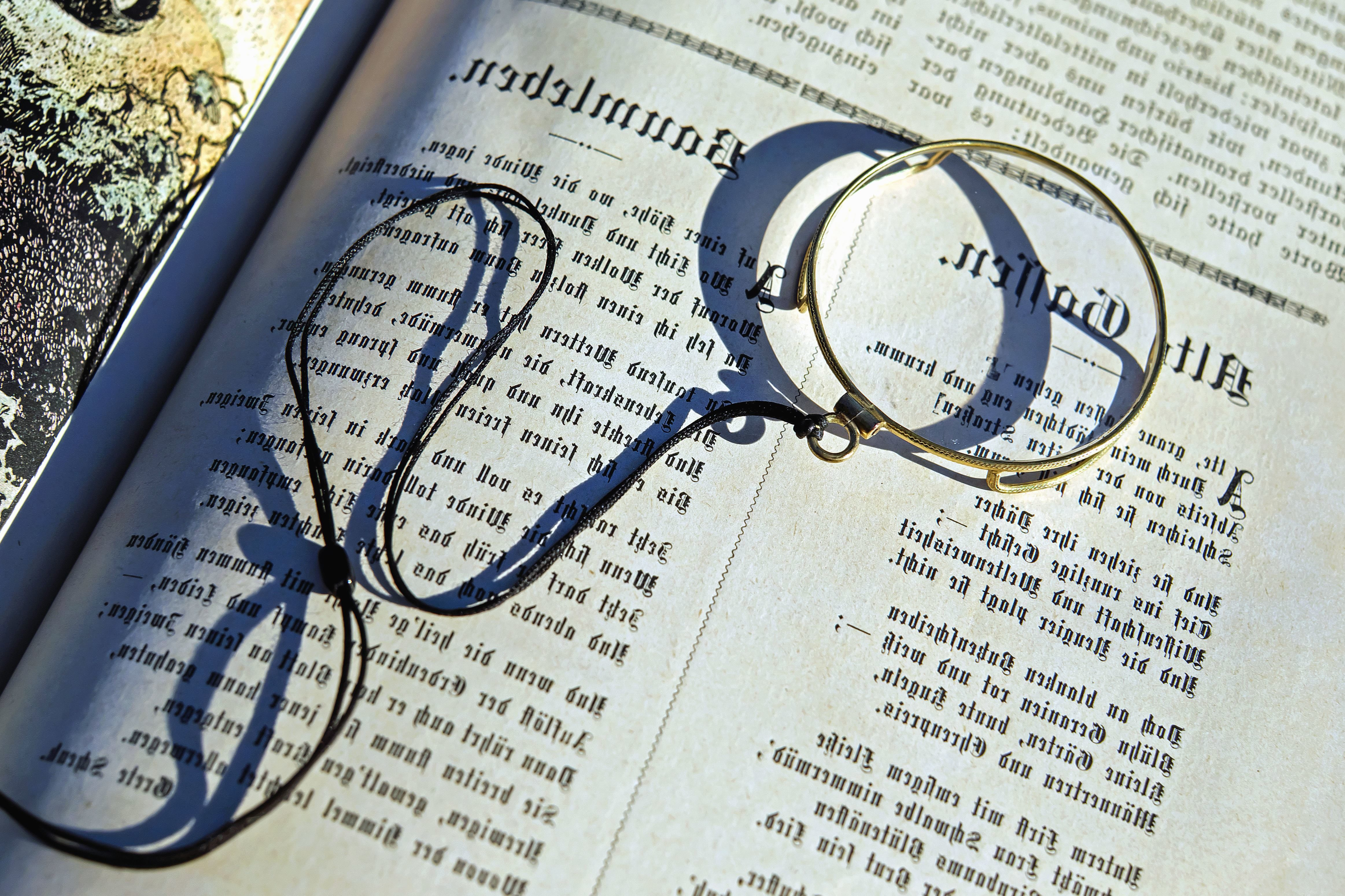 Free Picture Magnifying Glass Page Paper Research