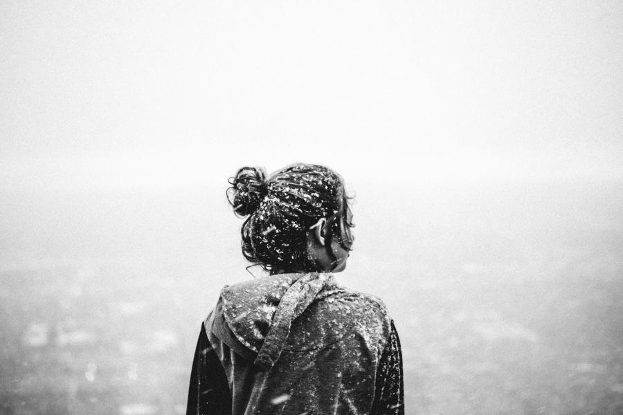 Kostenlose Bild Schnee Haare Frauen Winter Klte Jacke