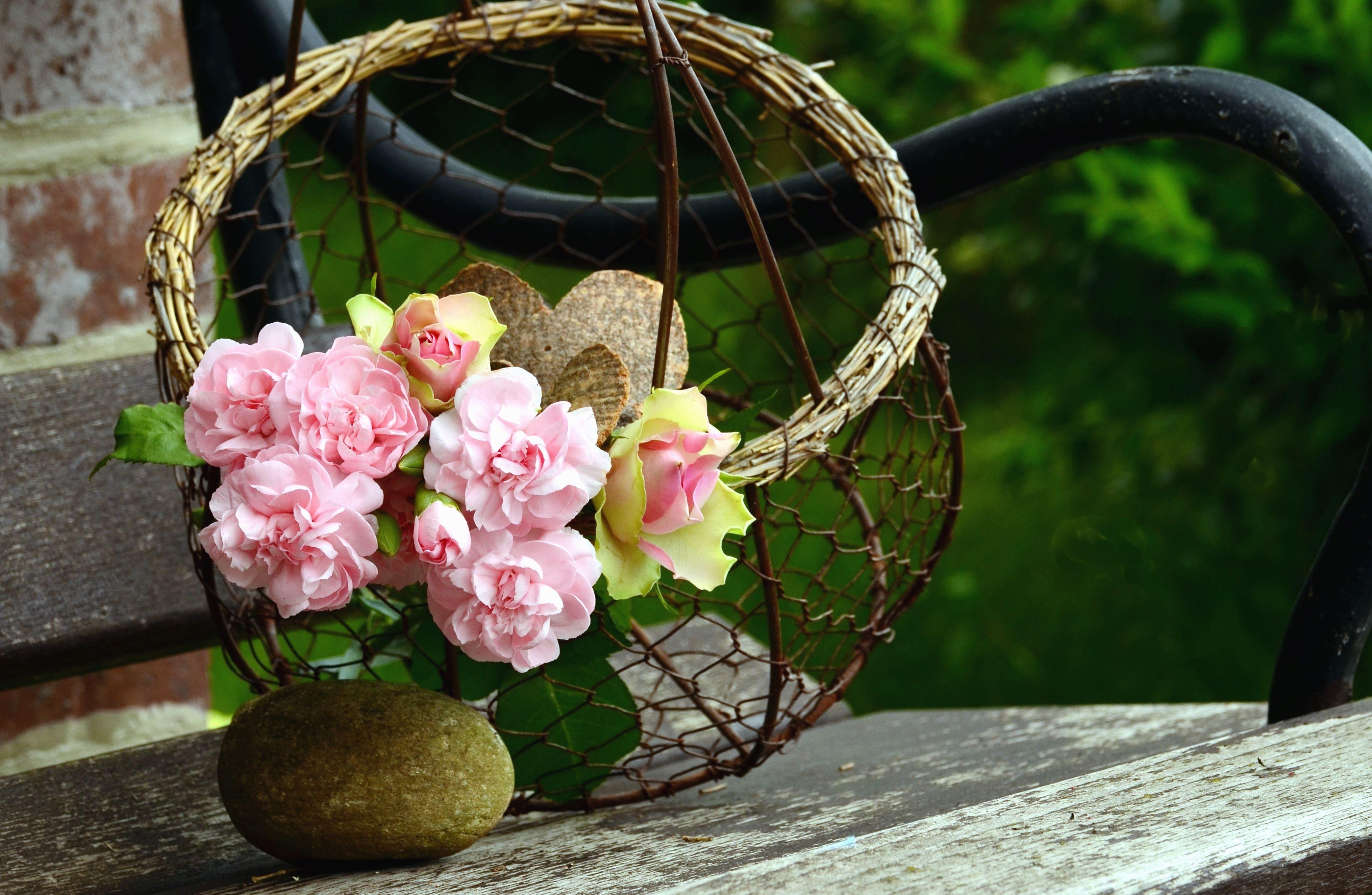 Image Libre Dcoration Bouquet Bois Mtal Fleur Panier