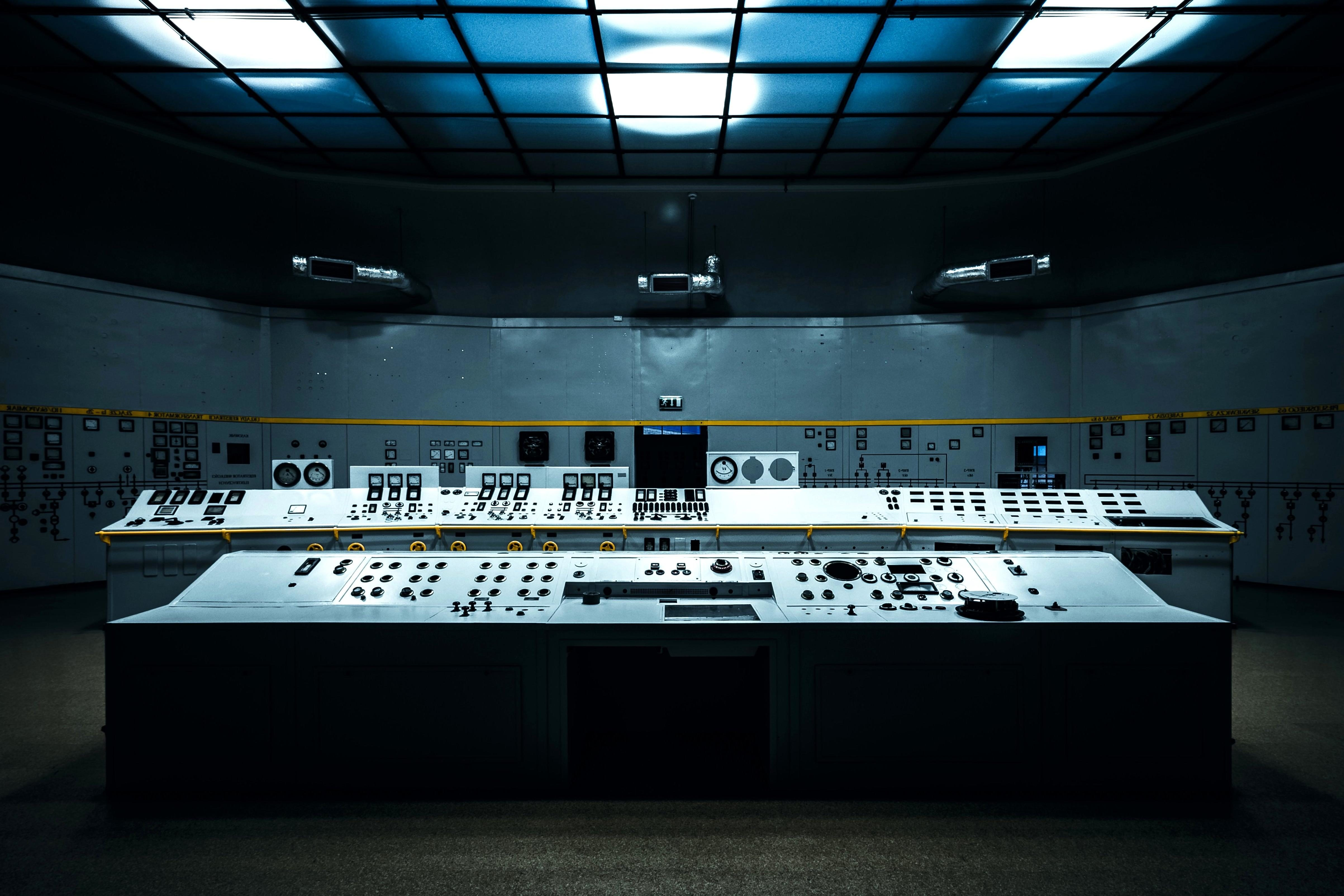 Free picture control center room workplace dark