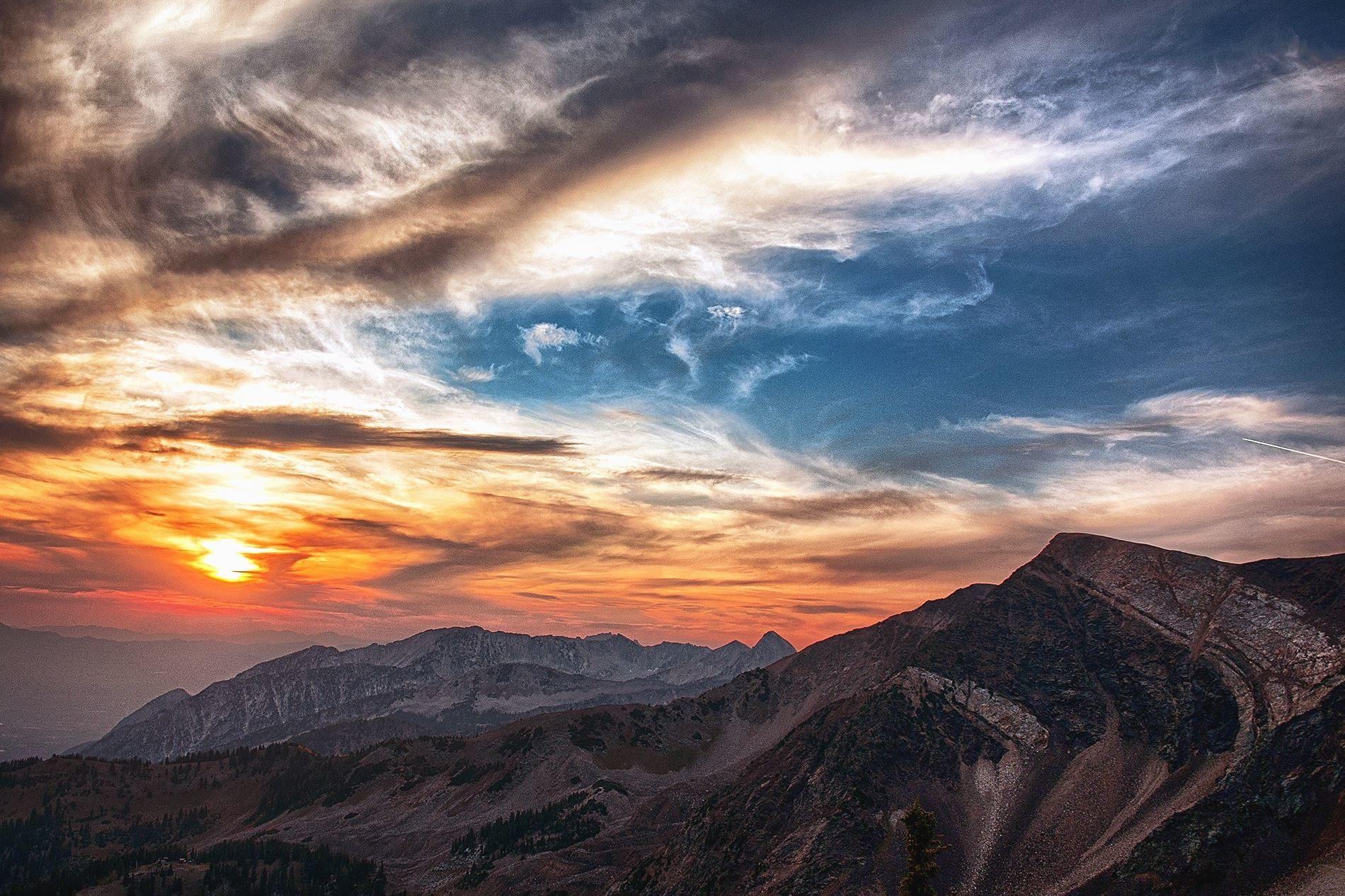 Free picture mountain sun sky rocks scenery cliff