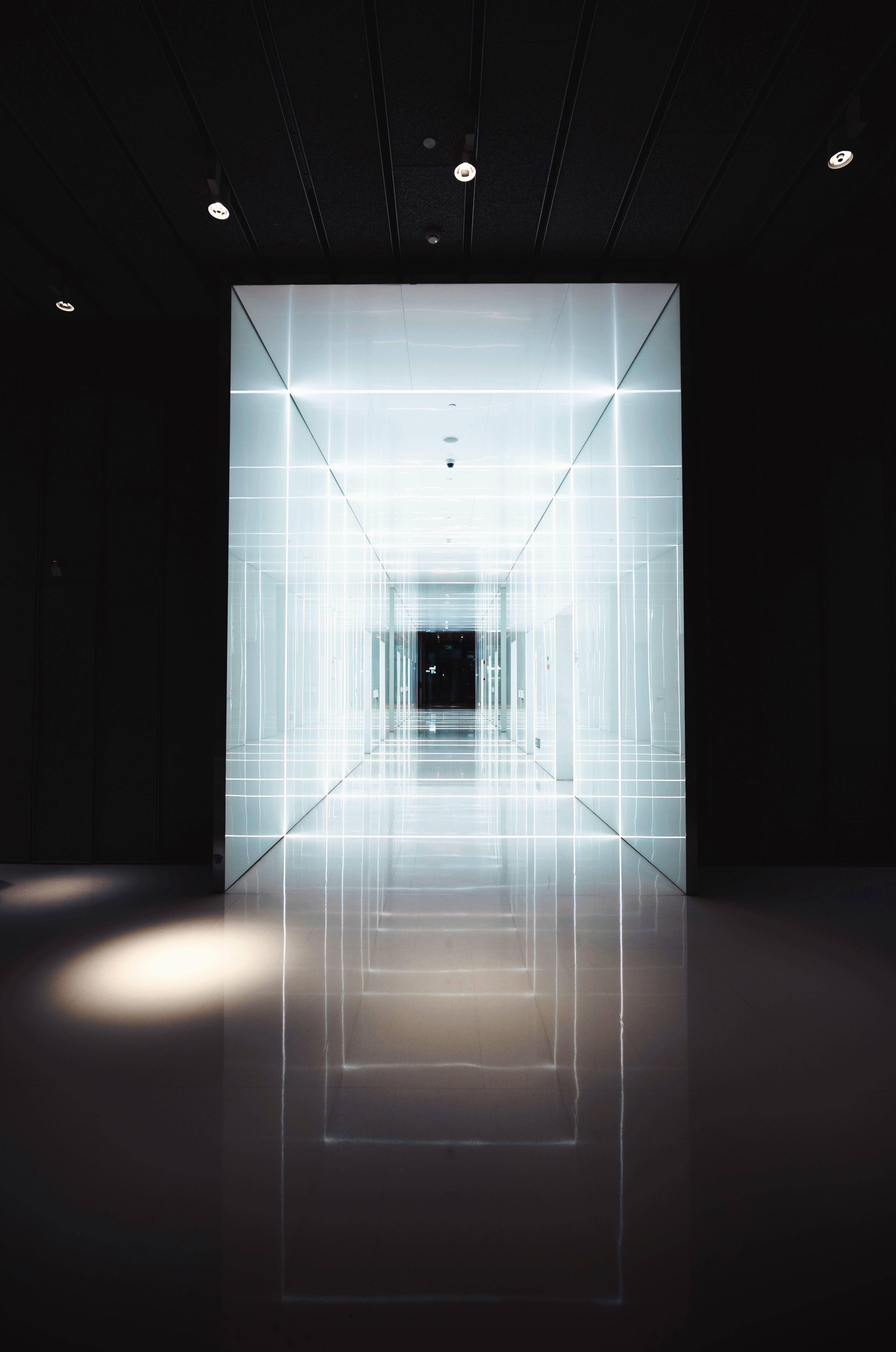 Free Picture Interior Hallway Light Reflection Floor