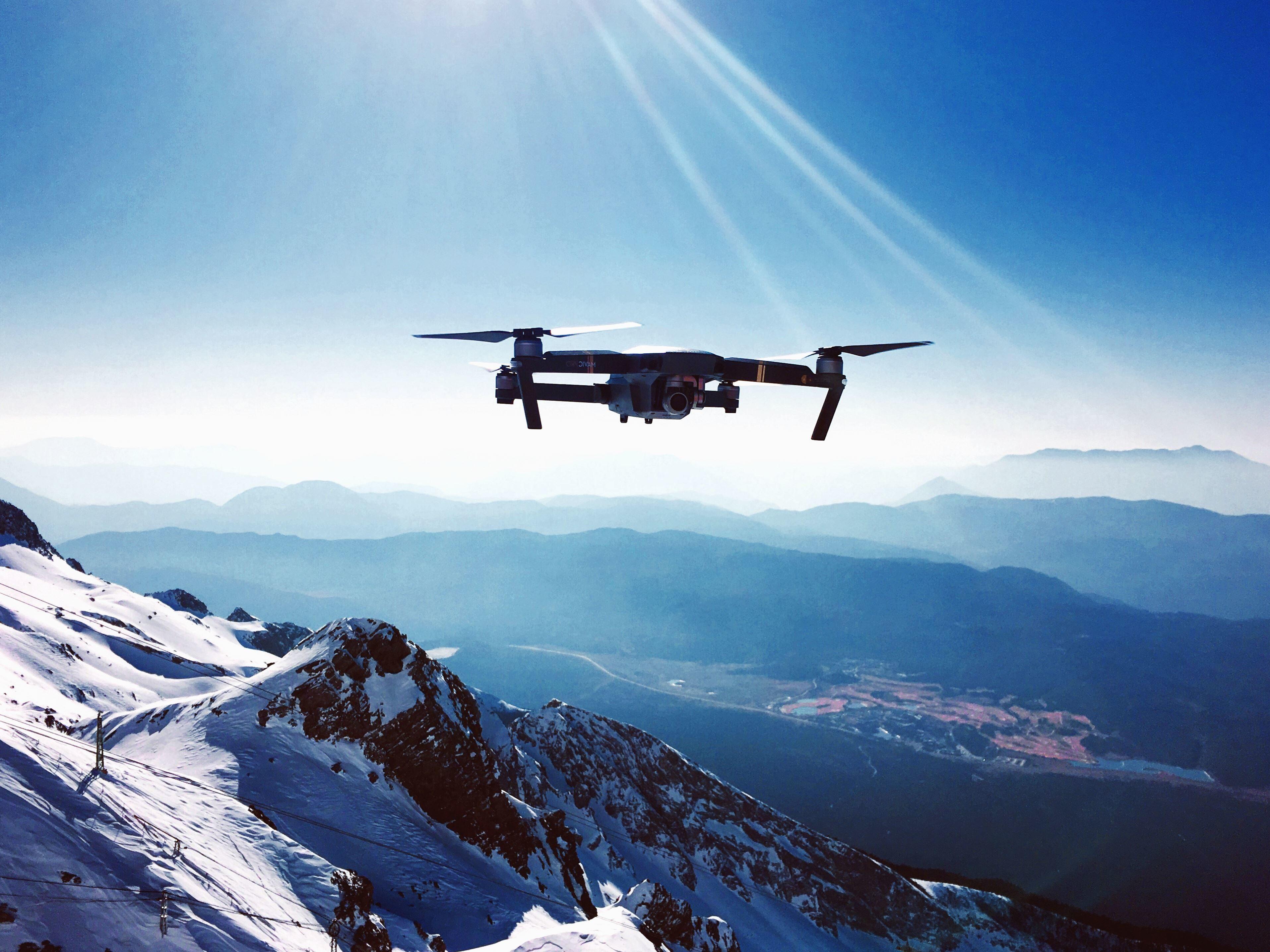 Iphone Wallpaper Resolution Image Libre Drone Avion Vol Ciel Montagne Vall 233 E Neige