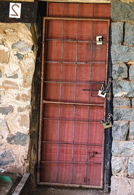 Free Picture Wall Brick Door Lock Grid Stone