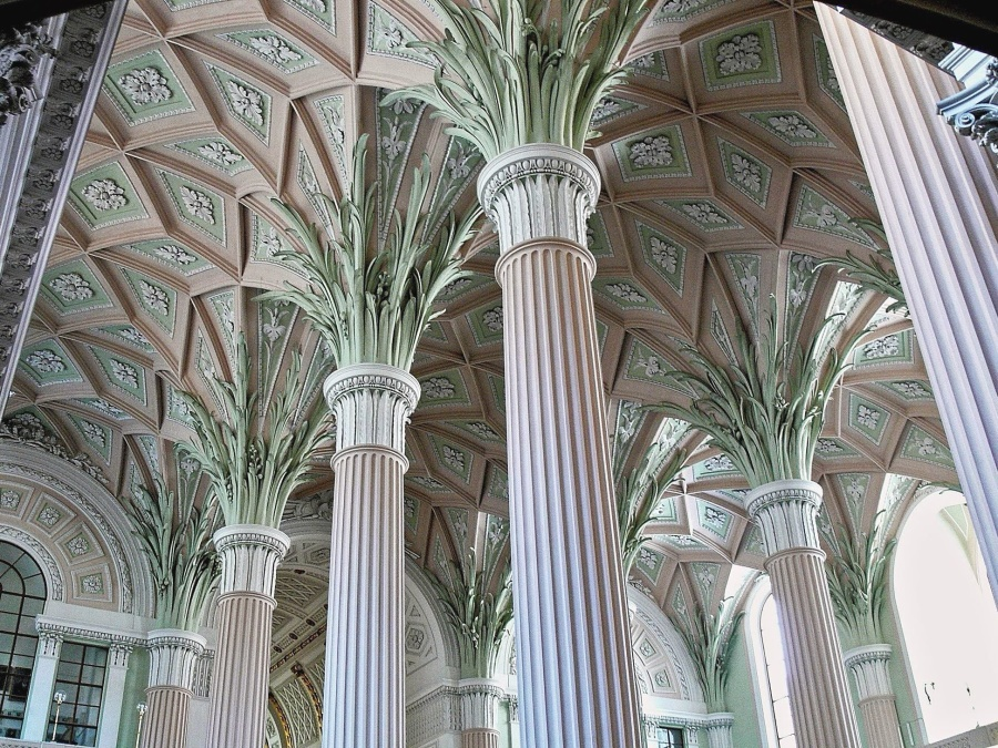 Free picture architecture pillar ceiling stone church