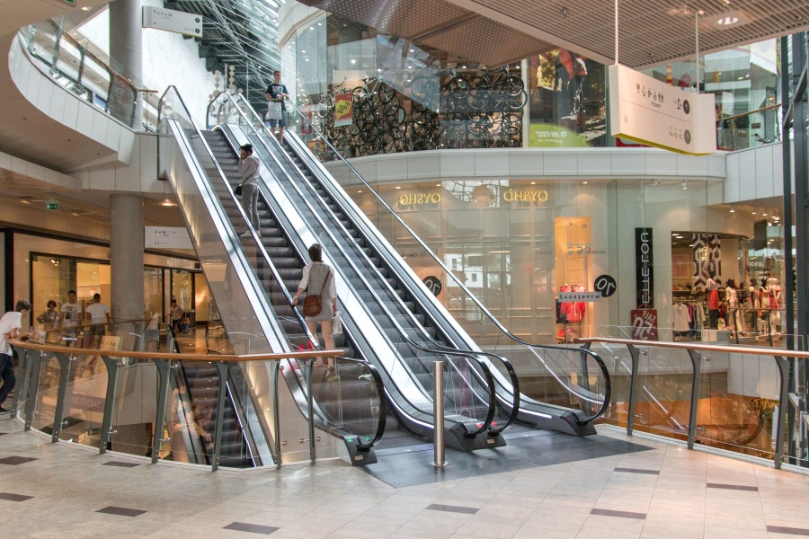 Free Picture Mobile Stairs Shopping Center People