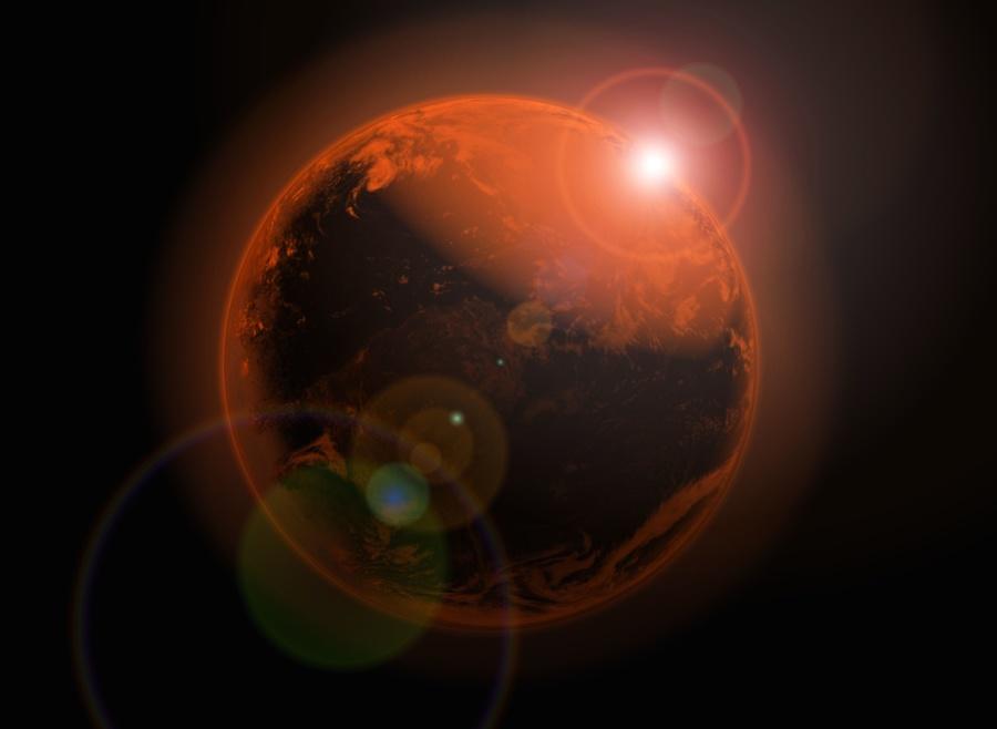 Imagen gratis Planeta universo luz tierra sol