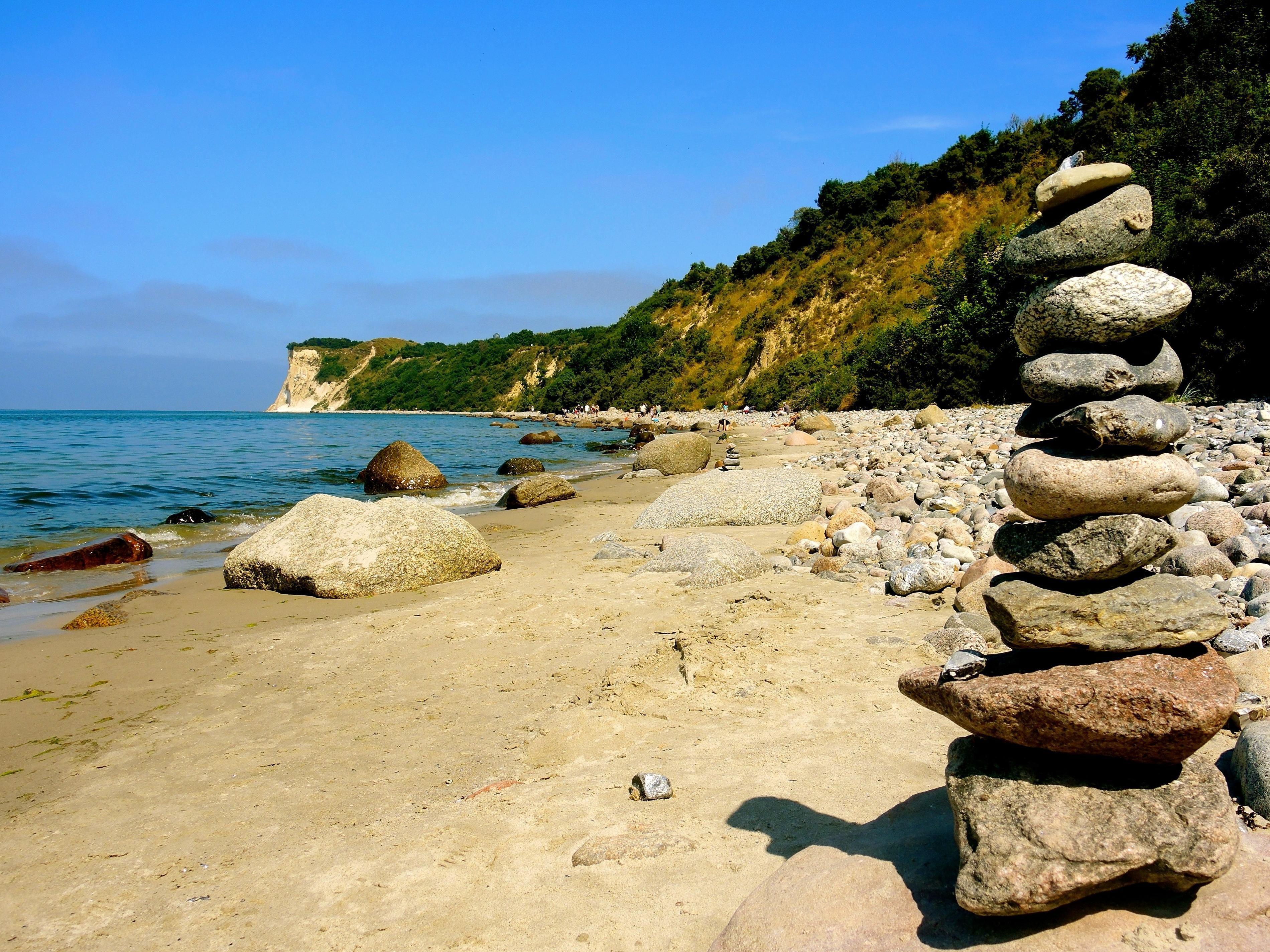 Landscape Wallpaper Hd Imagen Gratis Playa Agua Mar Litoral Piedra Roca