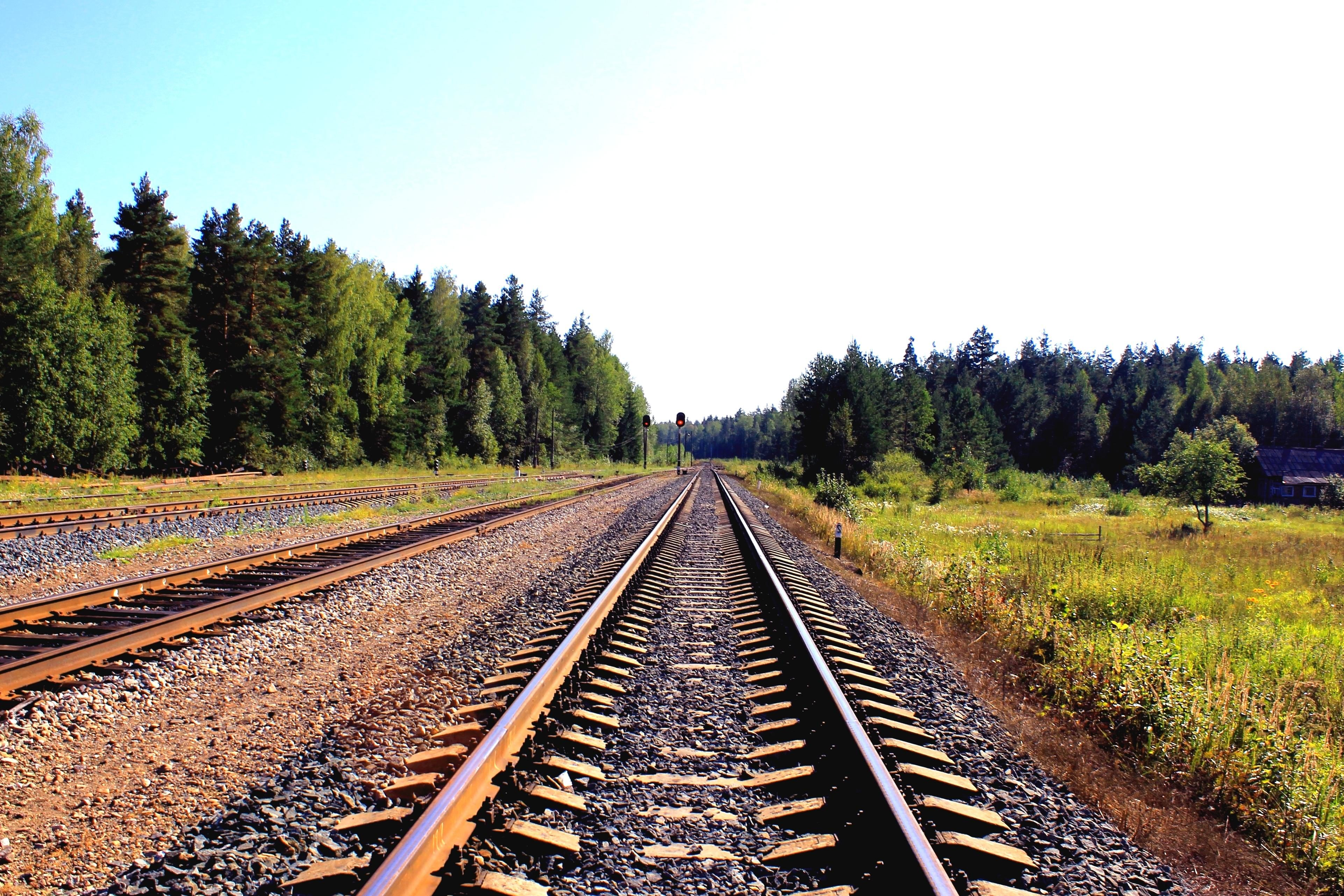 Free picture railway landscape iron road