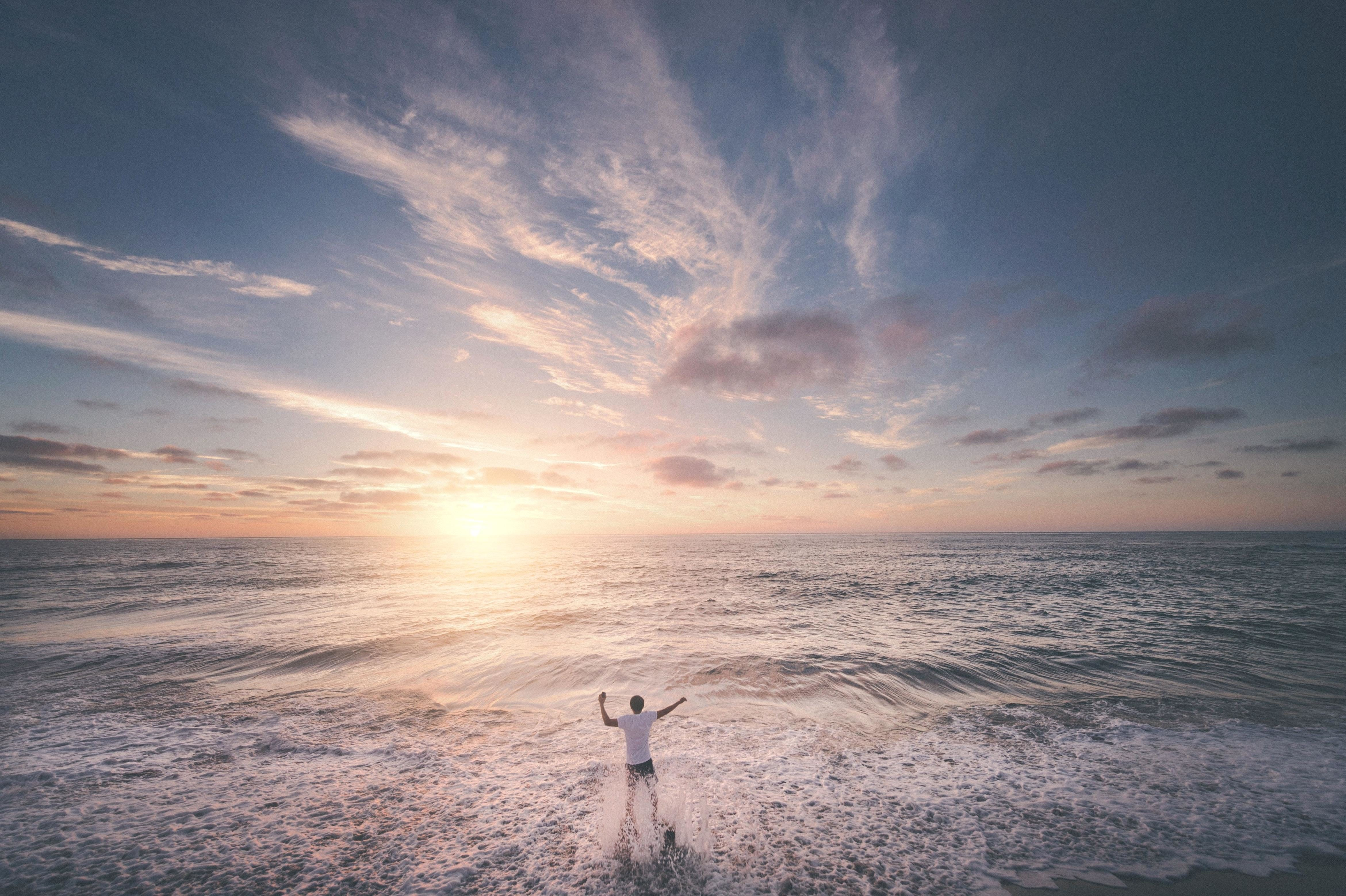 Free Picture Sunset Water Dawn Sea Beach Ocean Dusk