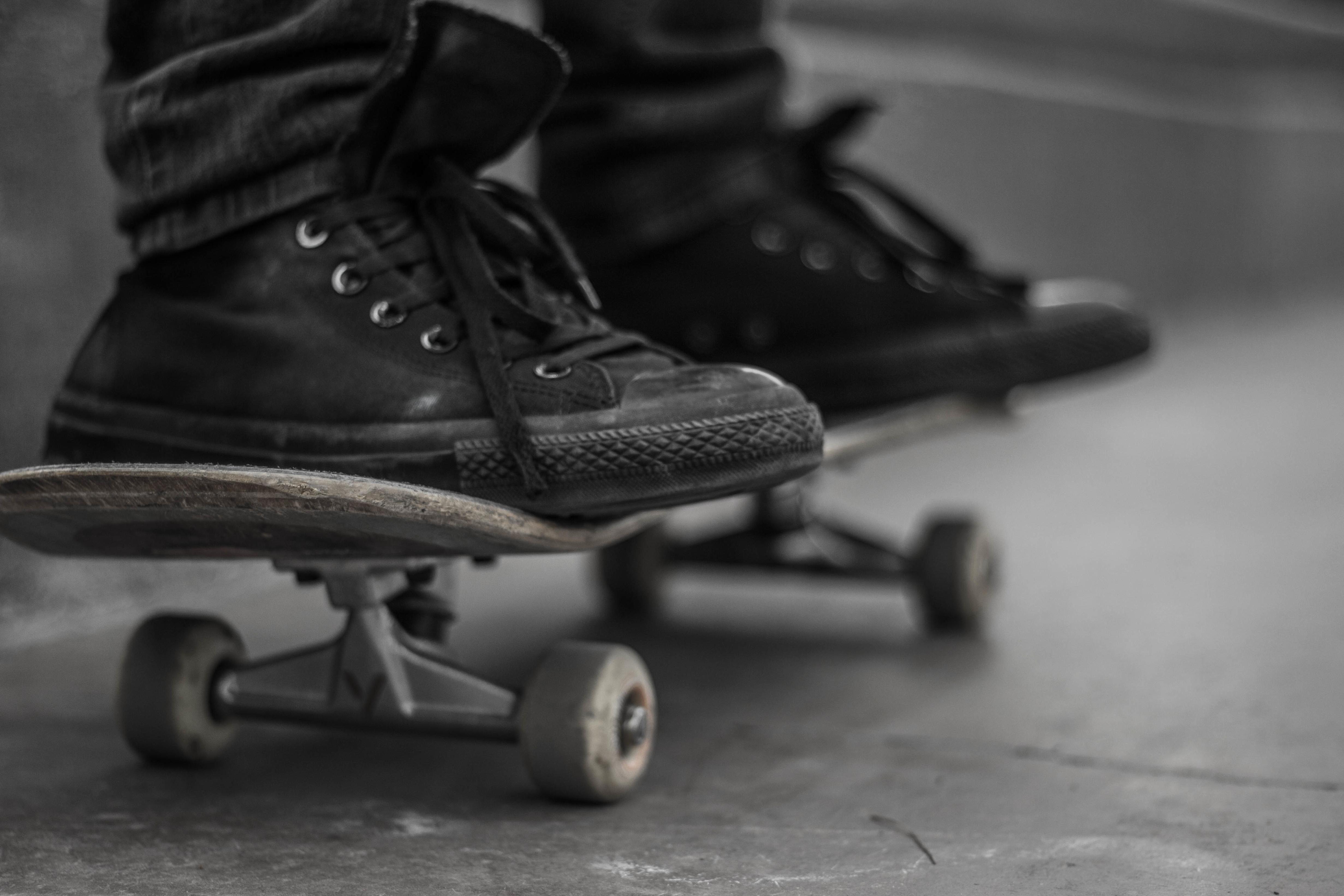 Free picture skate footwear shoe monochrome asphalt