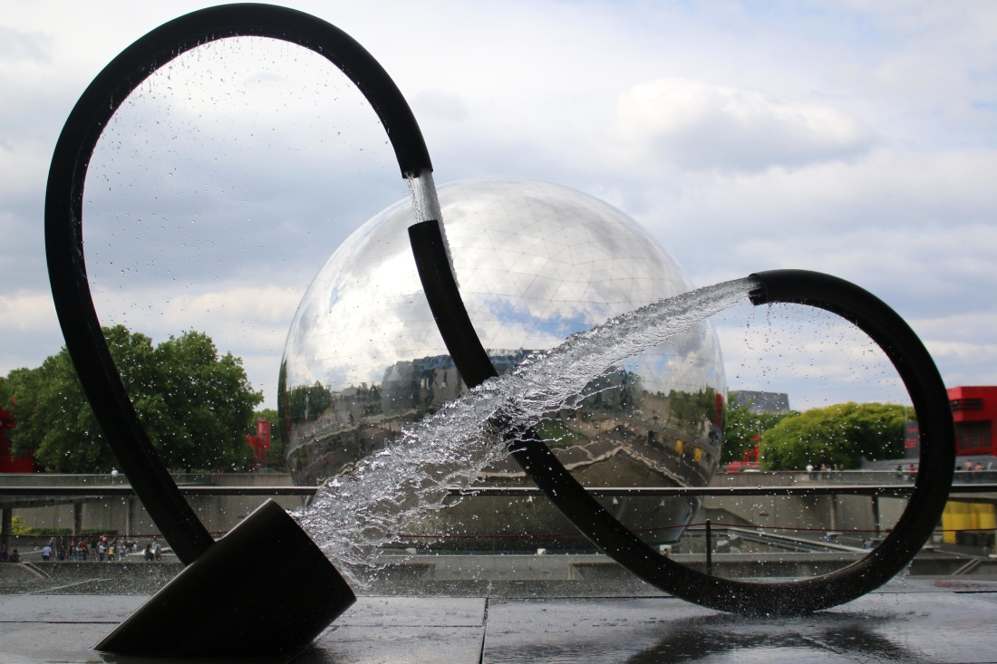 Free picture sky fountain modern water city urban