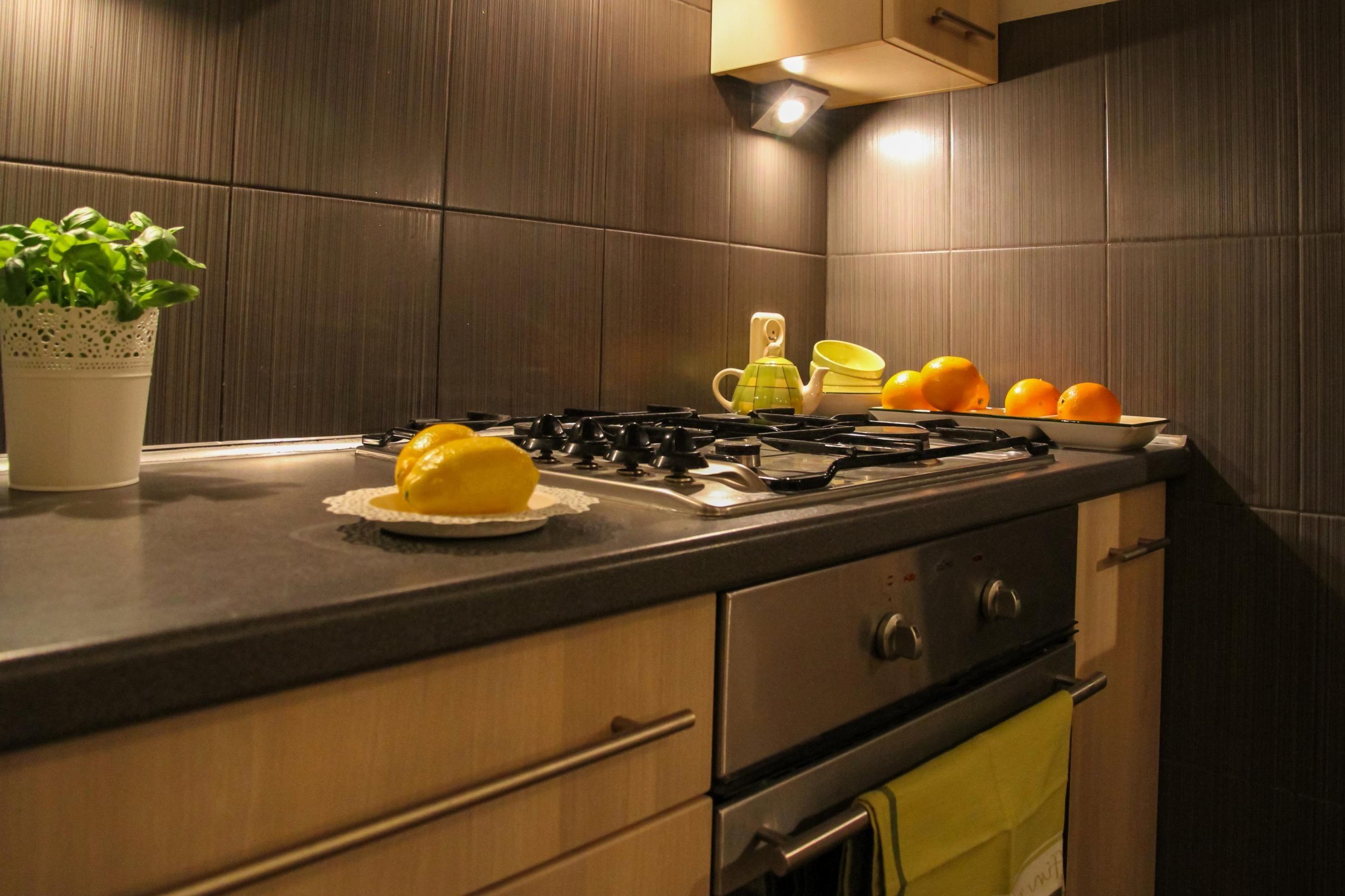Imagen gratis en el interior estufa comedor horno