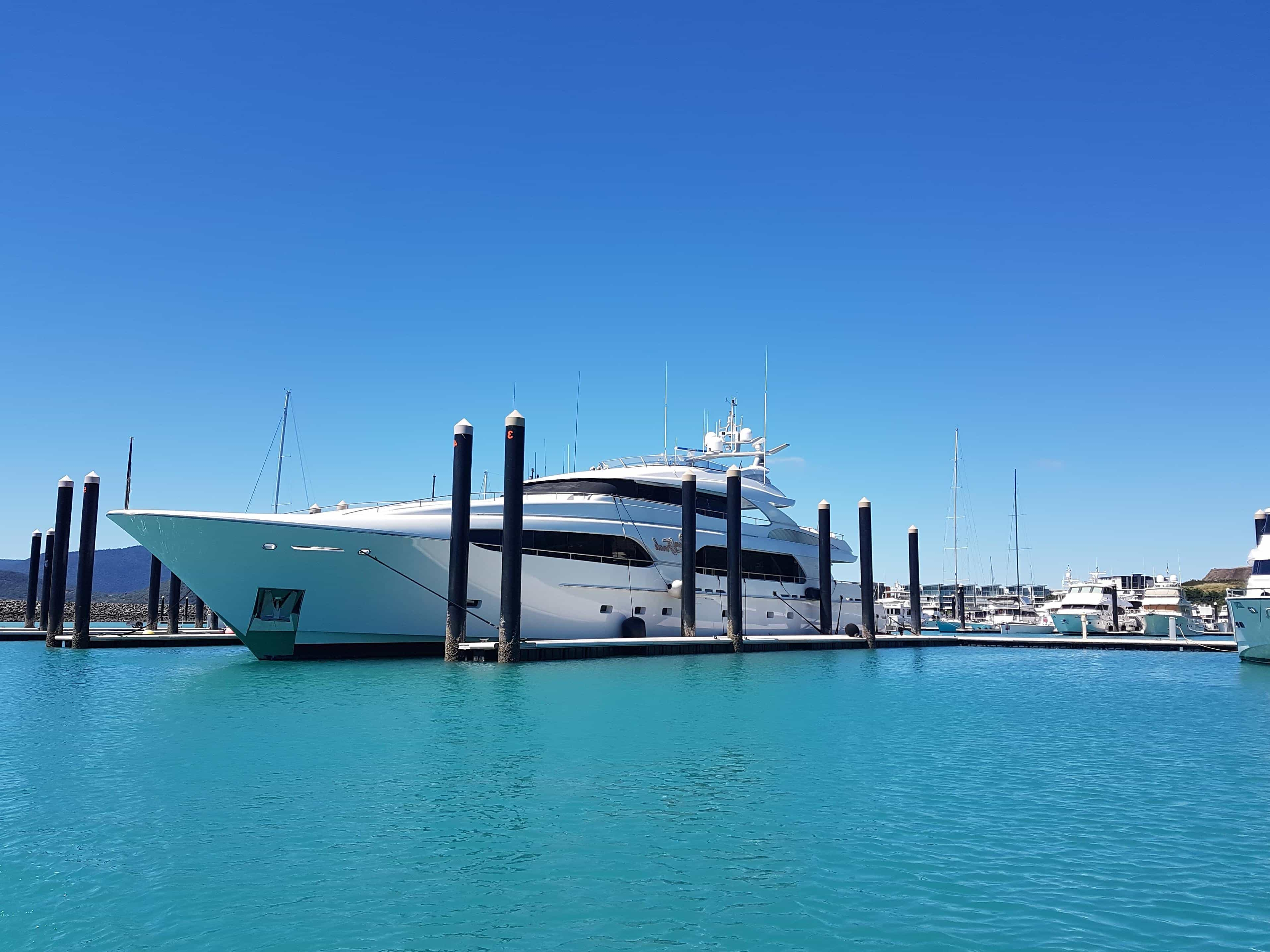 Free Picture Water Blue Sky Pier Ship Luxury Boat