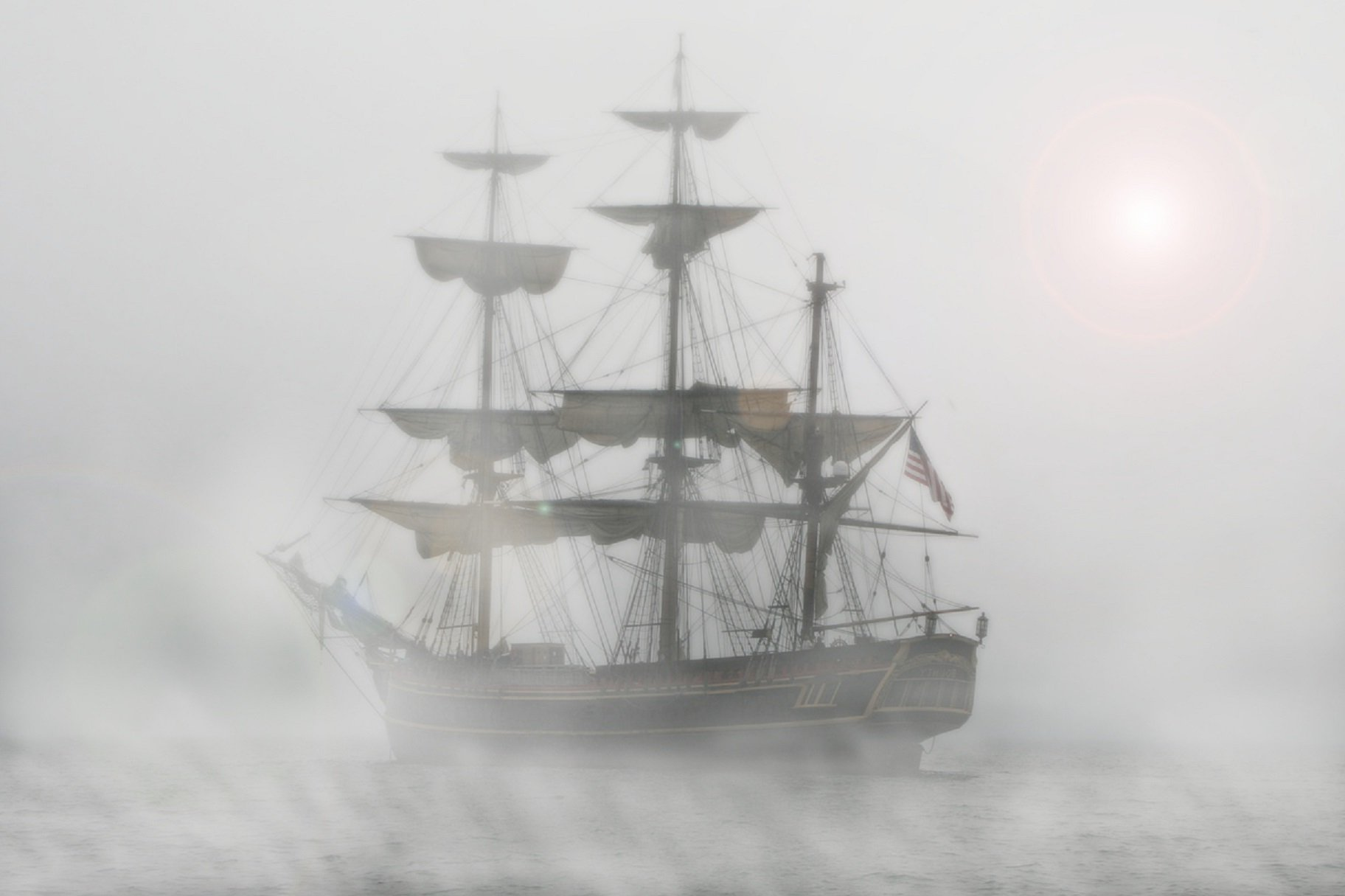 Free Picture Watercraft Ship Mist Sailboat Sail Boat
