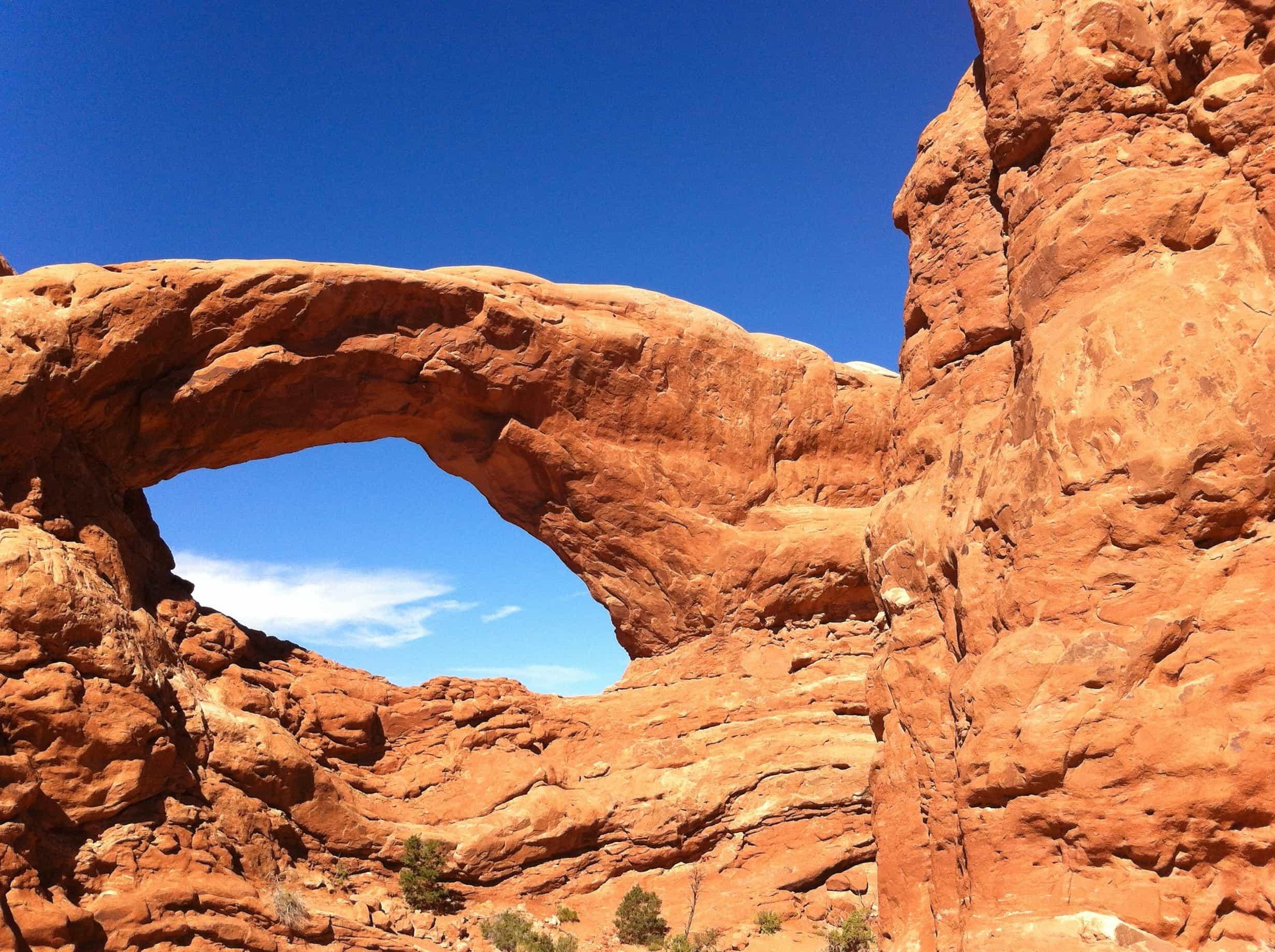 Free picture: sandstone, erosion, blue sky, geology, desert, canyon, nature, sky, valley
